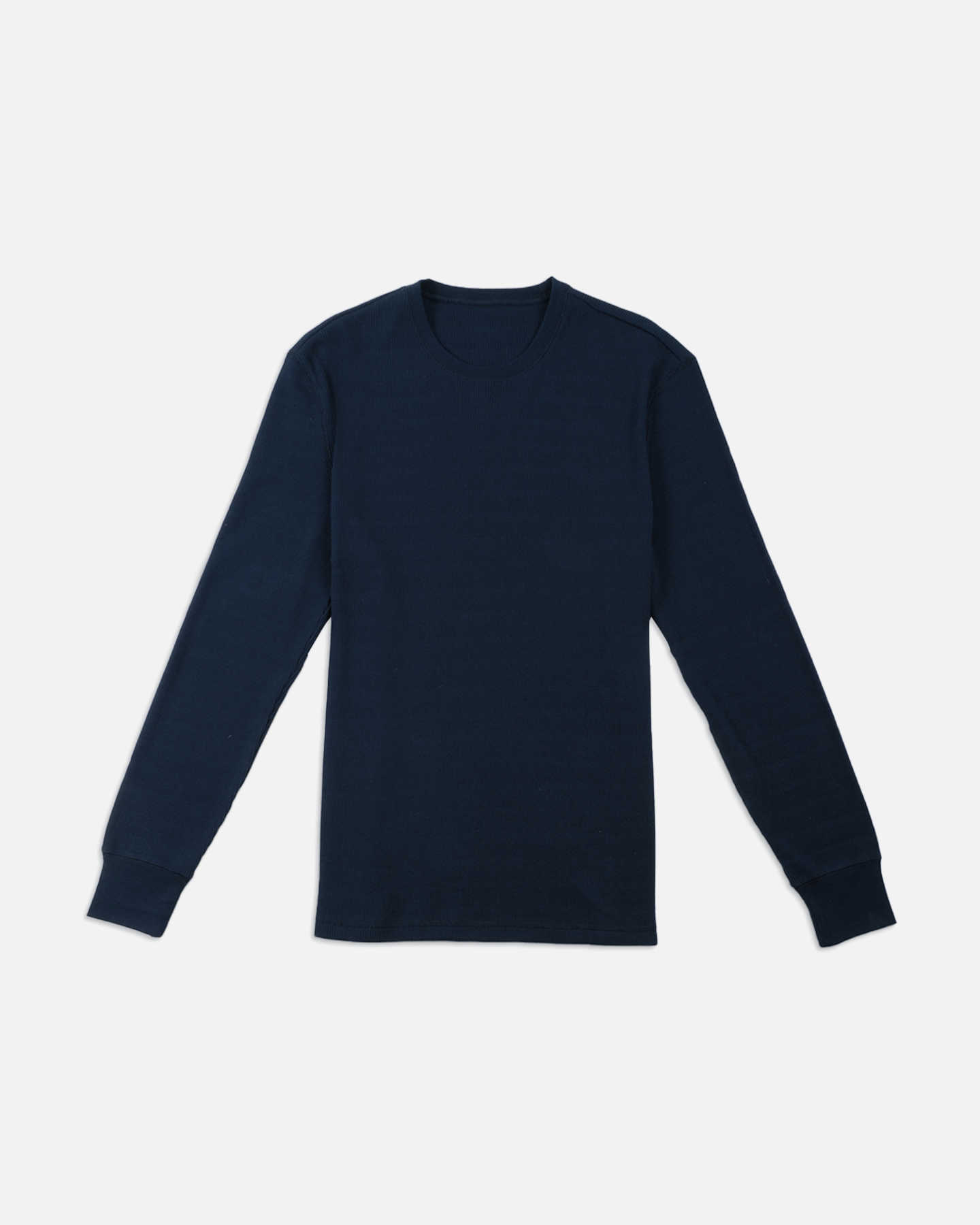 Luxe Organic Waffle Thermal Crew - Navy - 0