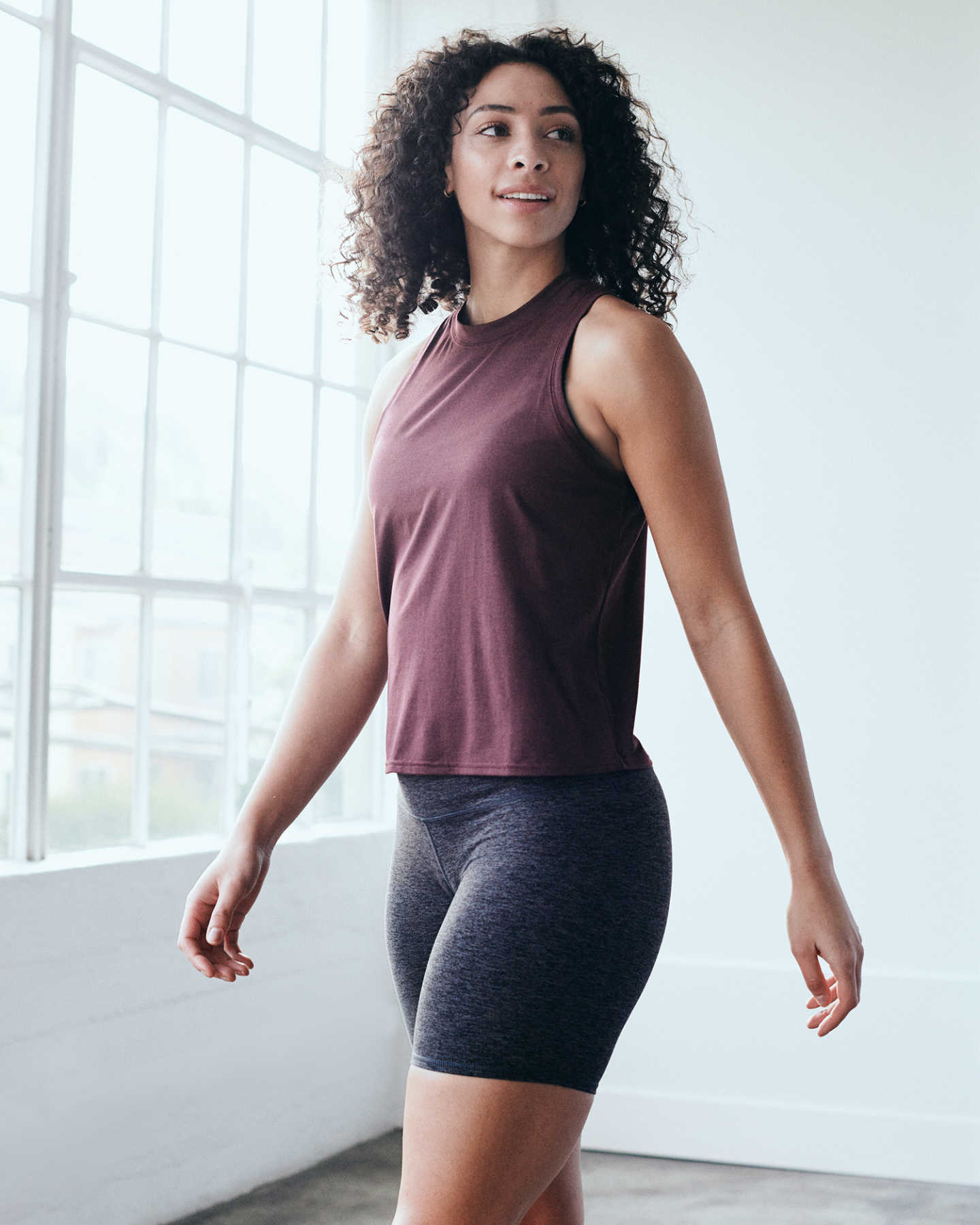 Flowknit Ultra-Soft Performance Tank - Burgundy - 6