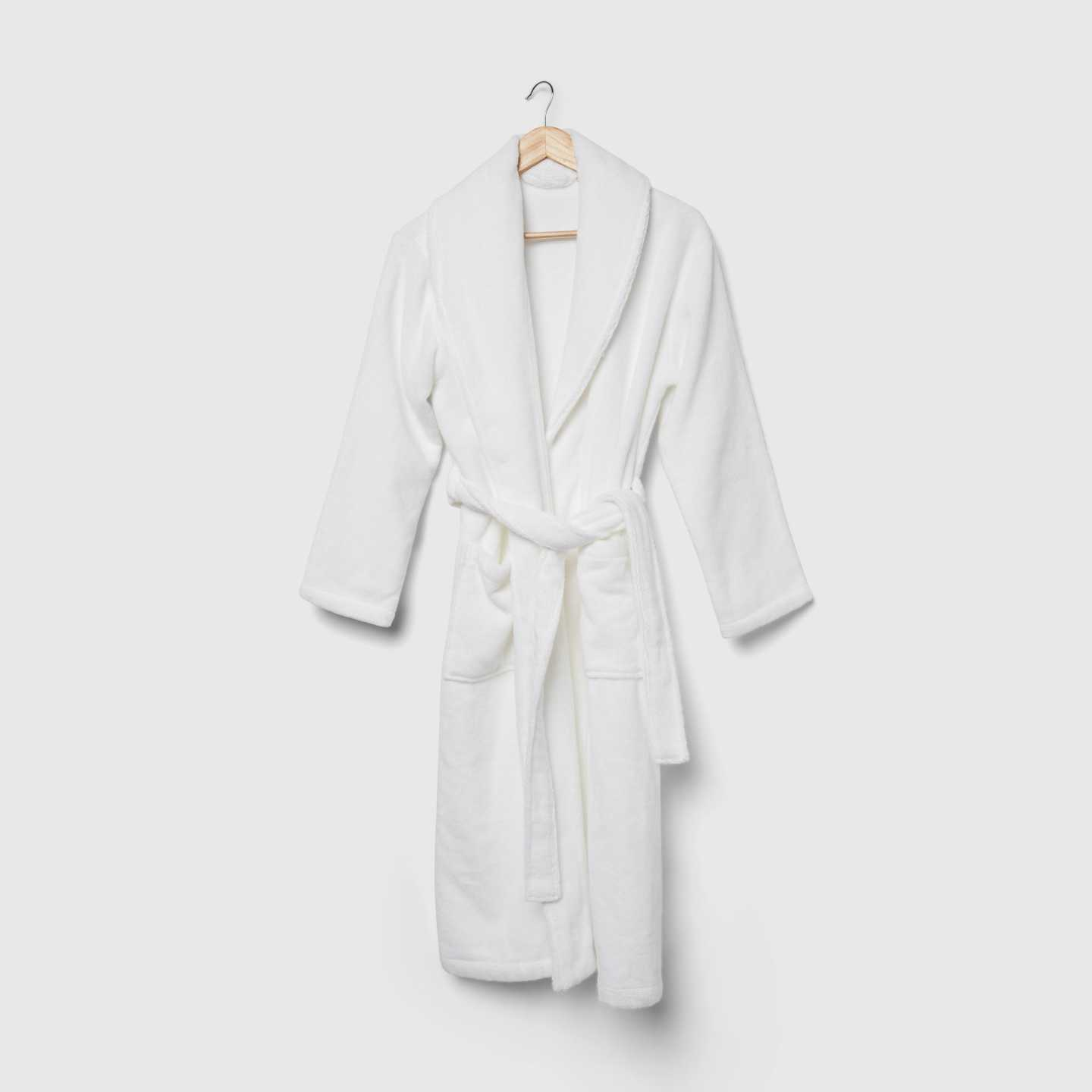 Organic Luxe Turkish Cotton Bath Robe - White