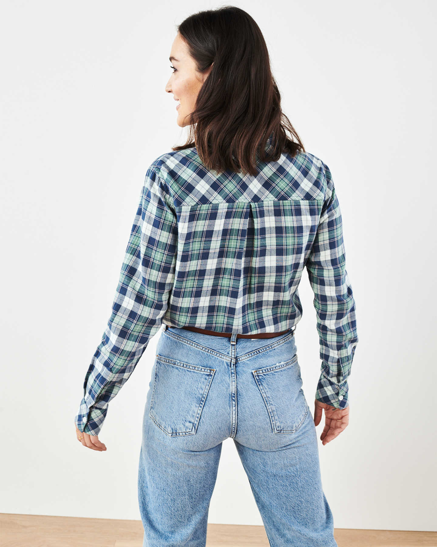 Brushed Twill Plaid Shirt - undefined - 4 - Thumbnail