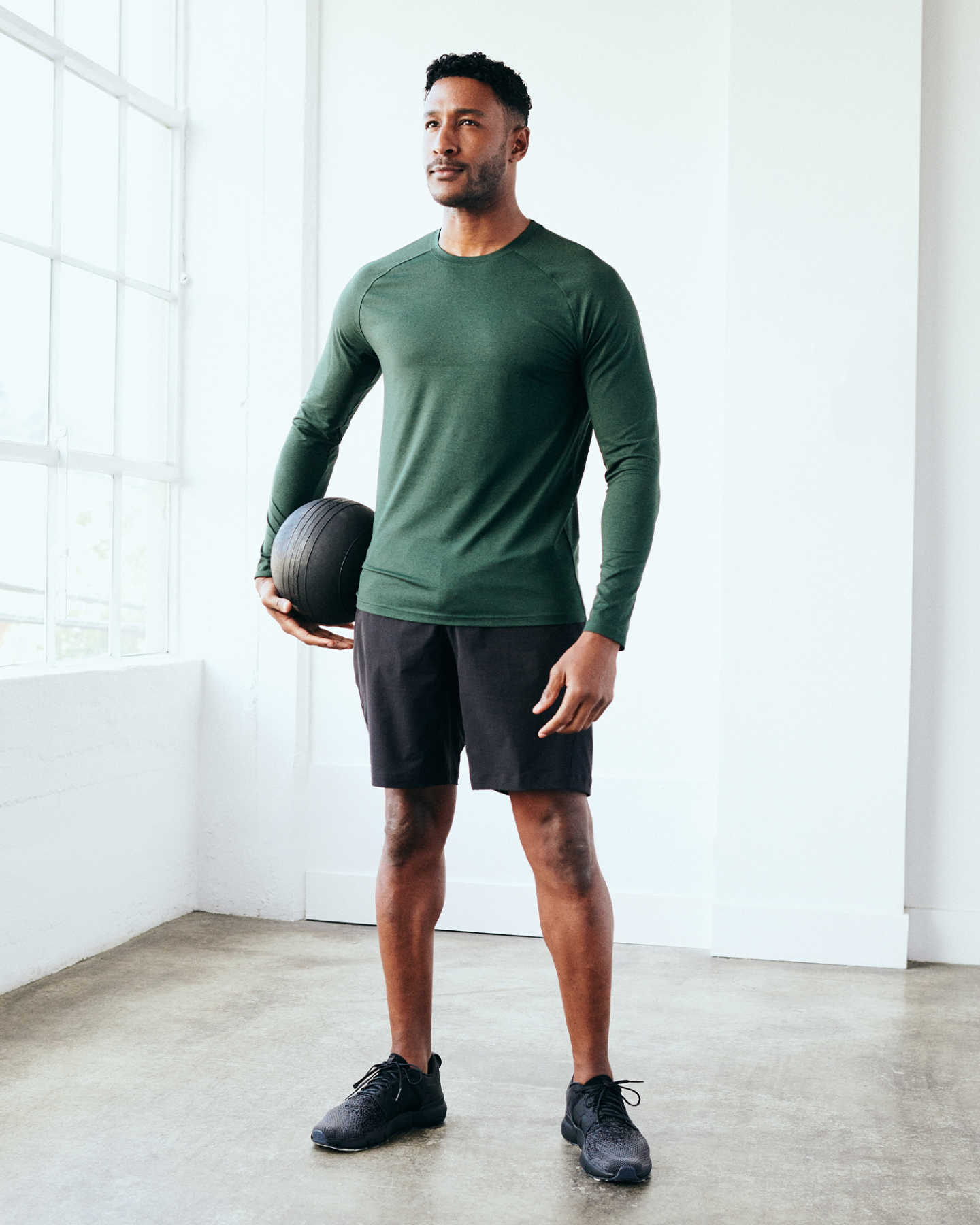 Flowknit Ultra-Soft Performance Long Sleeve Tee - Olive - 1