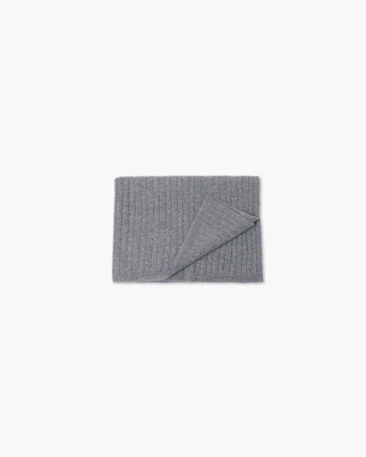 grey cashmere baby blanket from afar