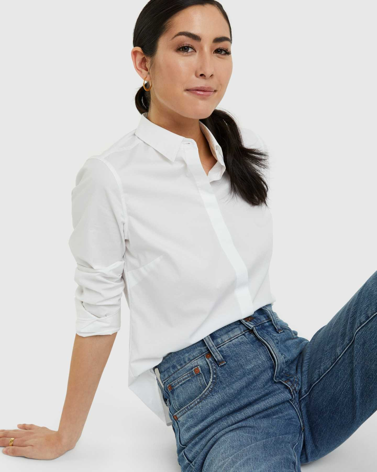 Organic Cotton Stretch Poplin Shirt - 13587172032623