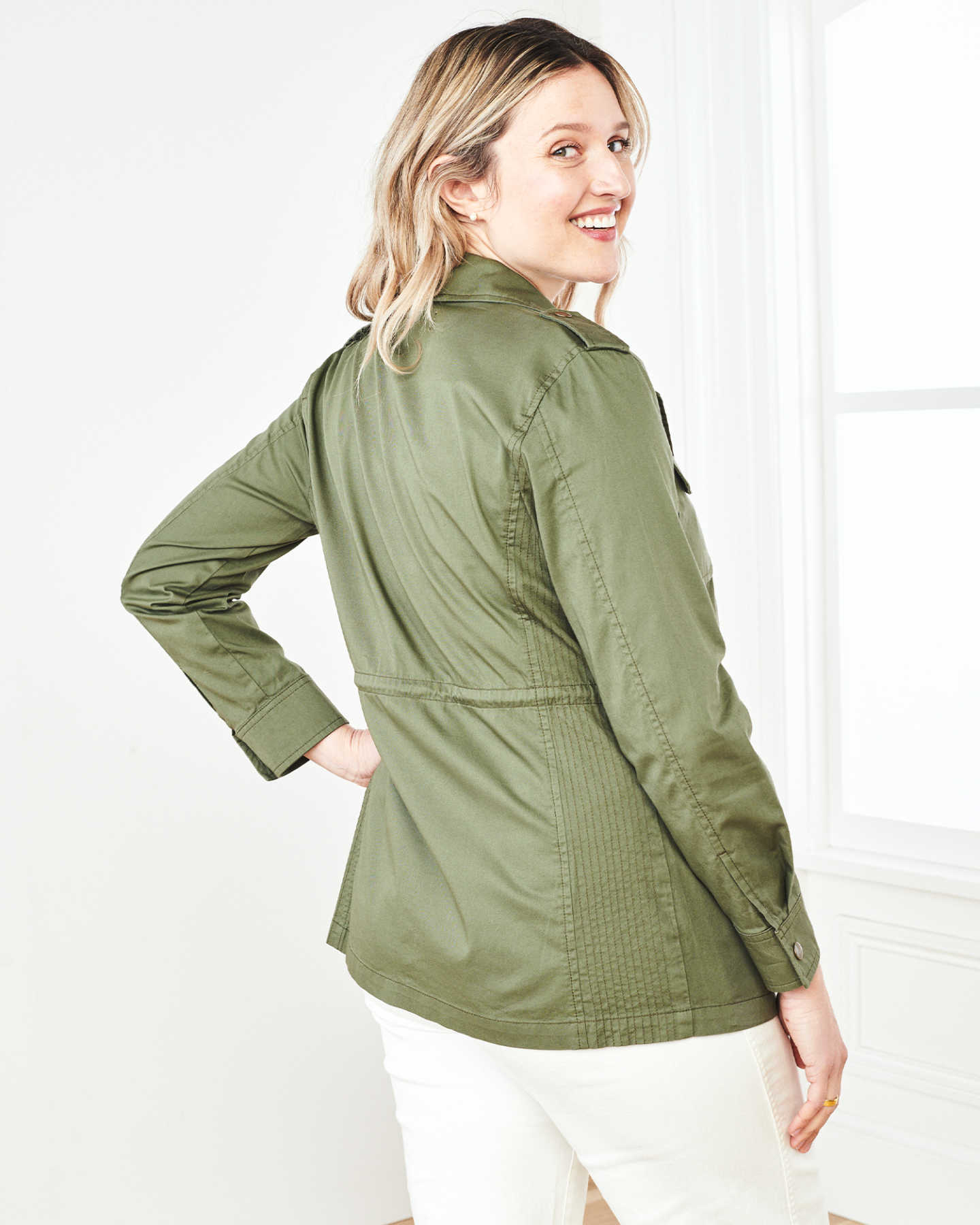 Cotton Twill Utility Jacket - Olive - 2