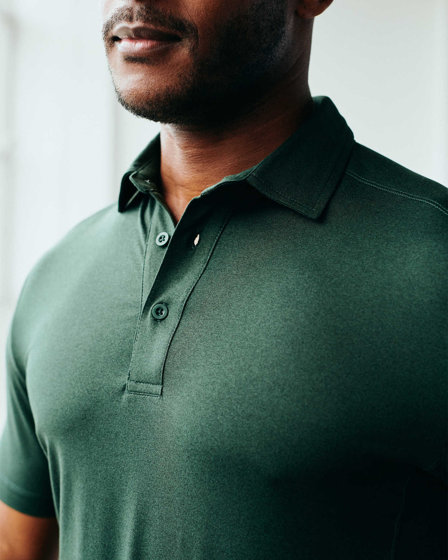Flowknit Ultra-Soft Performance Polo - Olive - 5 - Thumbnail