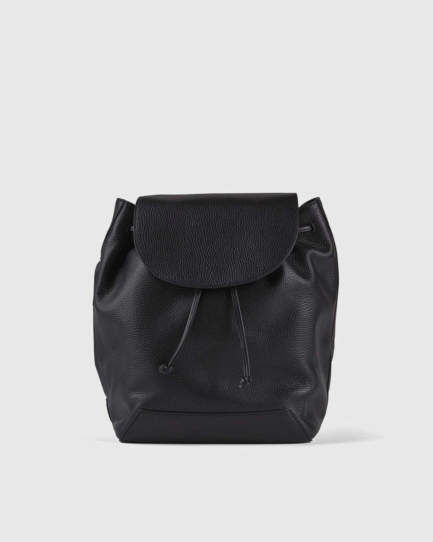 Italian Pebbled Leather Backpack - 13790589943919