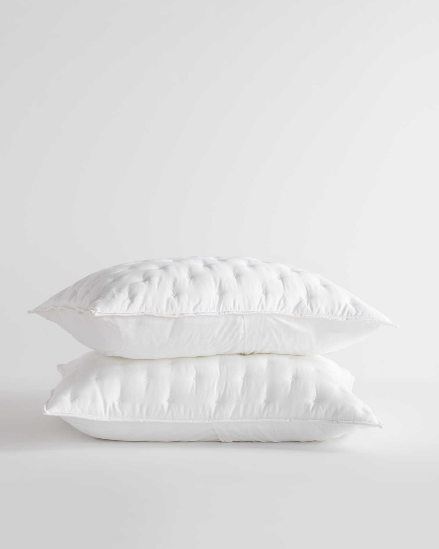 Organic Bamboo Lyocell Quilted Sham Set - White