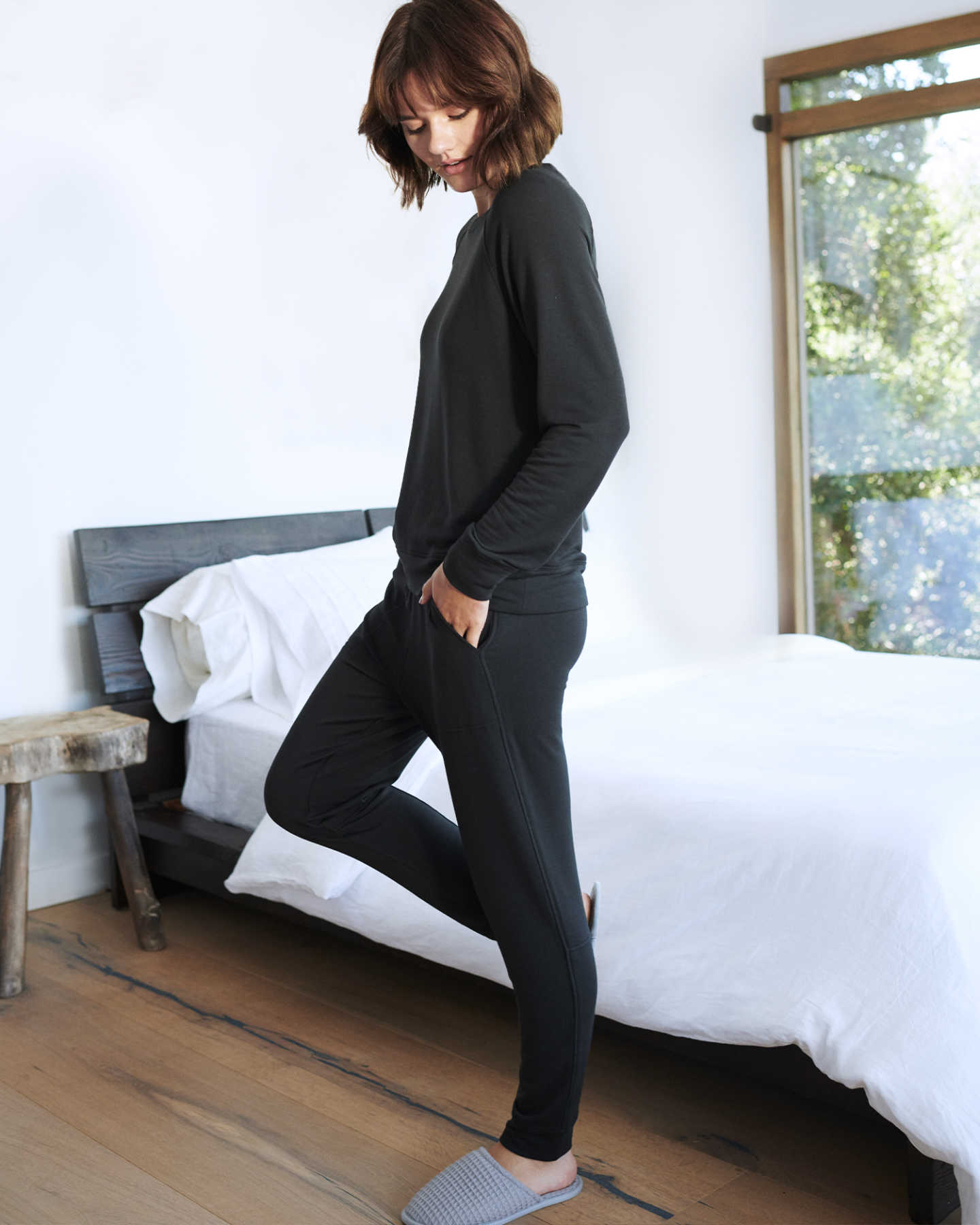 SuperSoft Fleece Pants - Black - 1