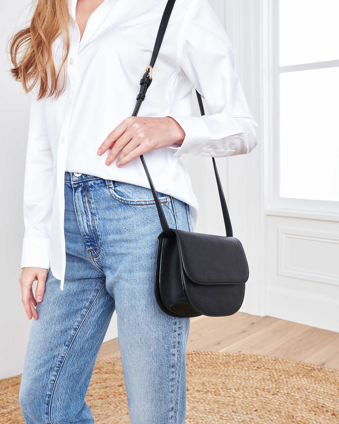 Vegan Saddle Bag - Black - 2
