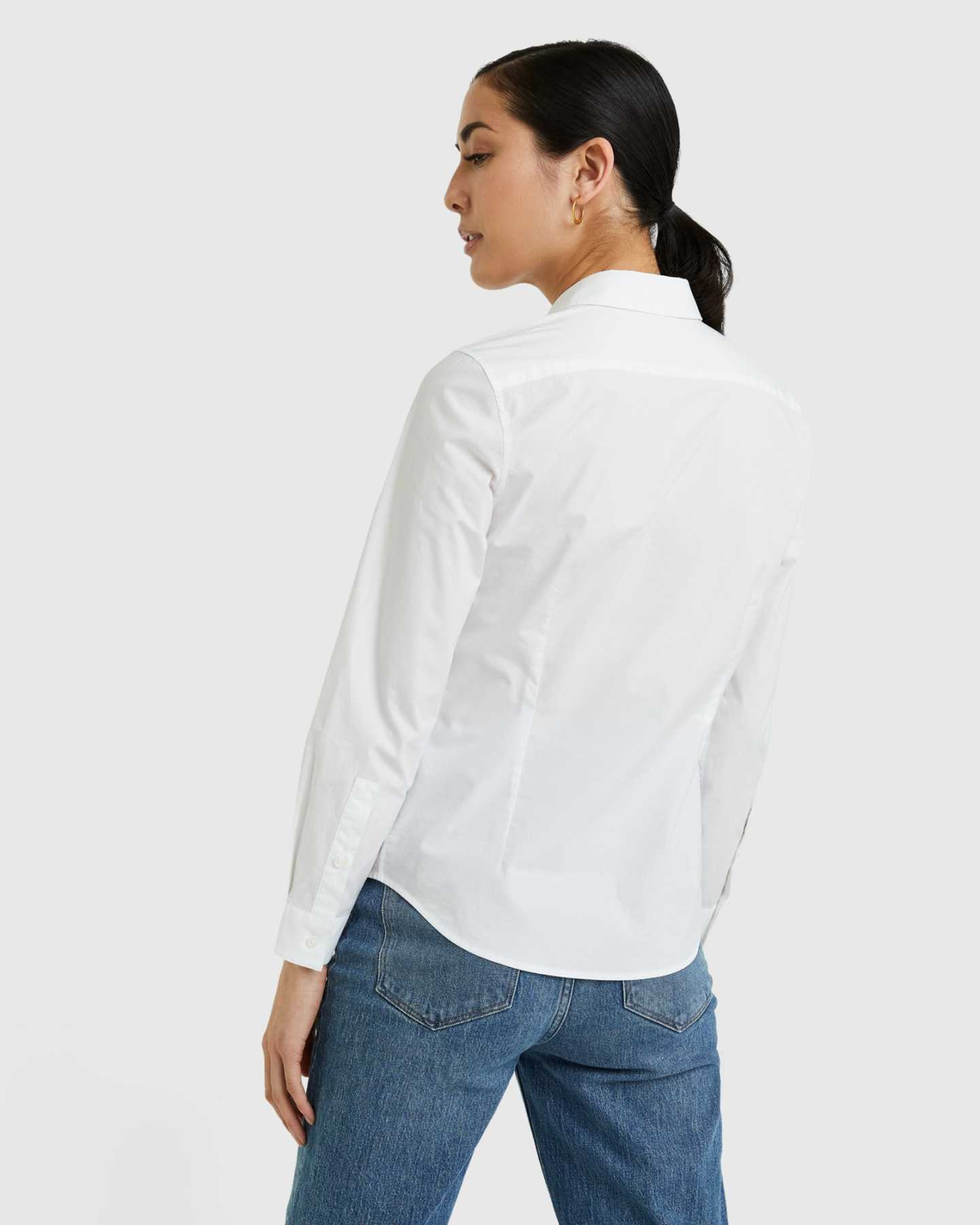 Organic Cotton Stretch Poplin Shirt - 13587171868783