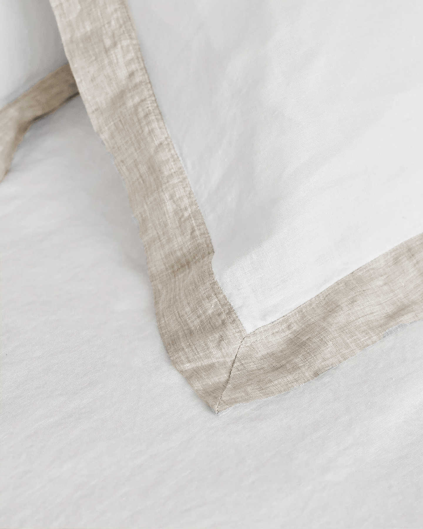 Belgian Linen Bordered Duvet Deluxe Bundle - Flax - 2