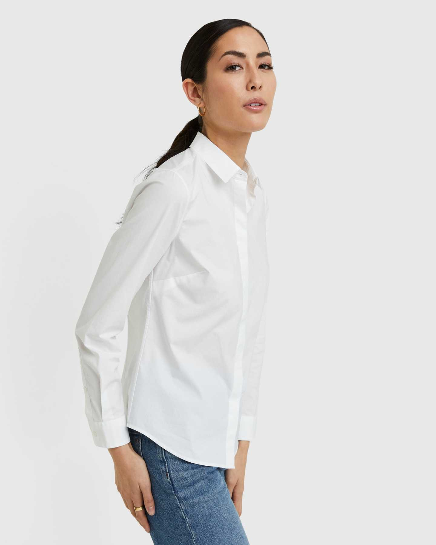 Organic Cotton Stretch Poplin Shirt - 13587171836015