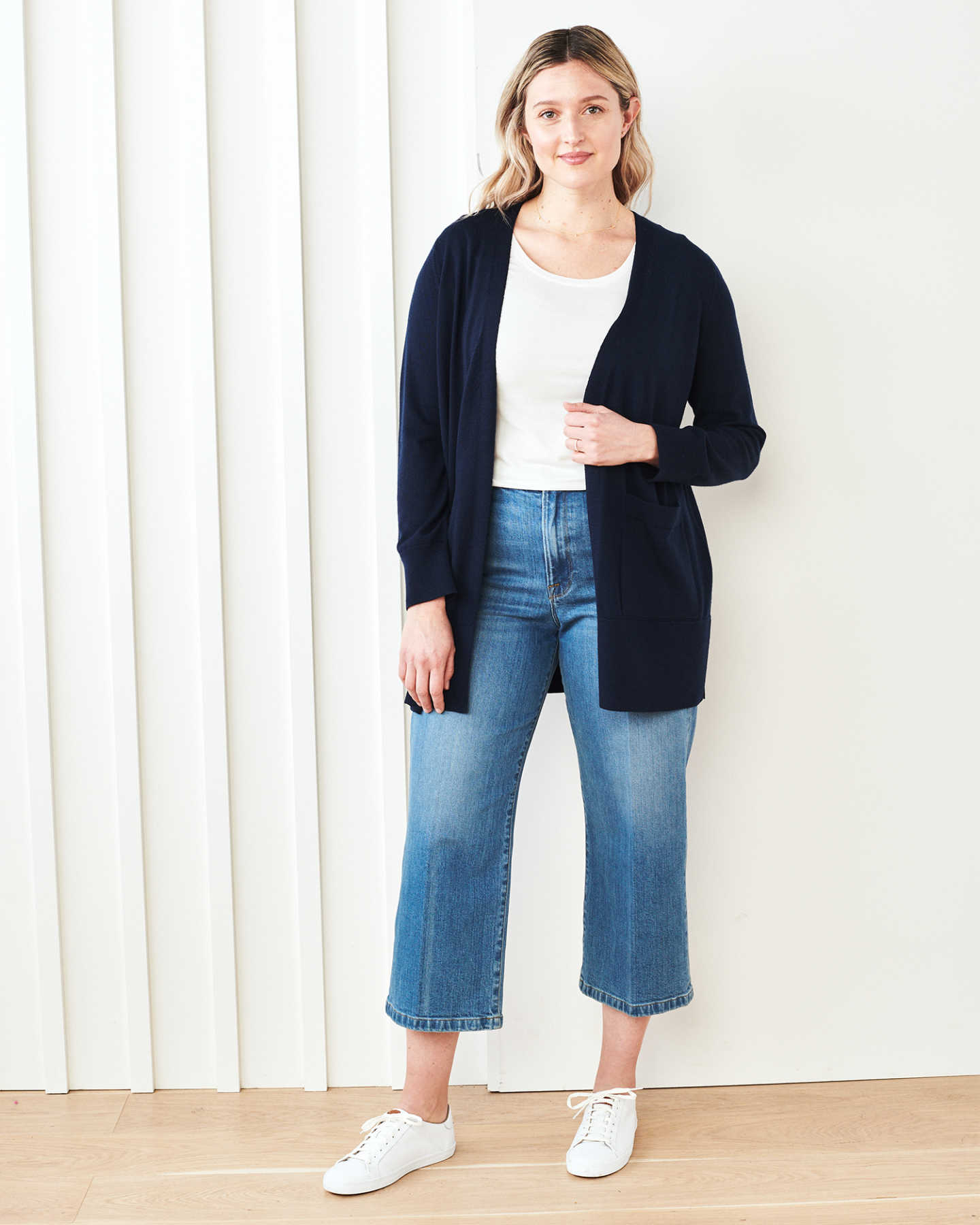 Pair With - Extra-Fine Australian Merino Cardigan - Navy