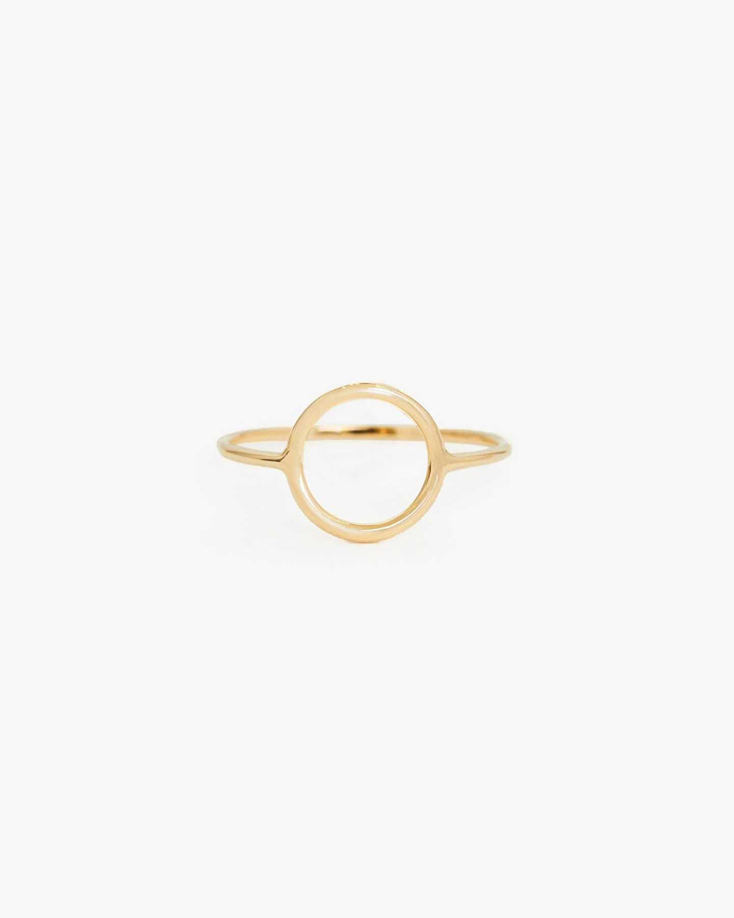 14k Gold Circle Ring - Yellow Gold