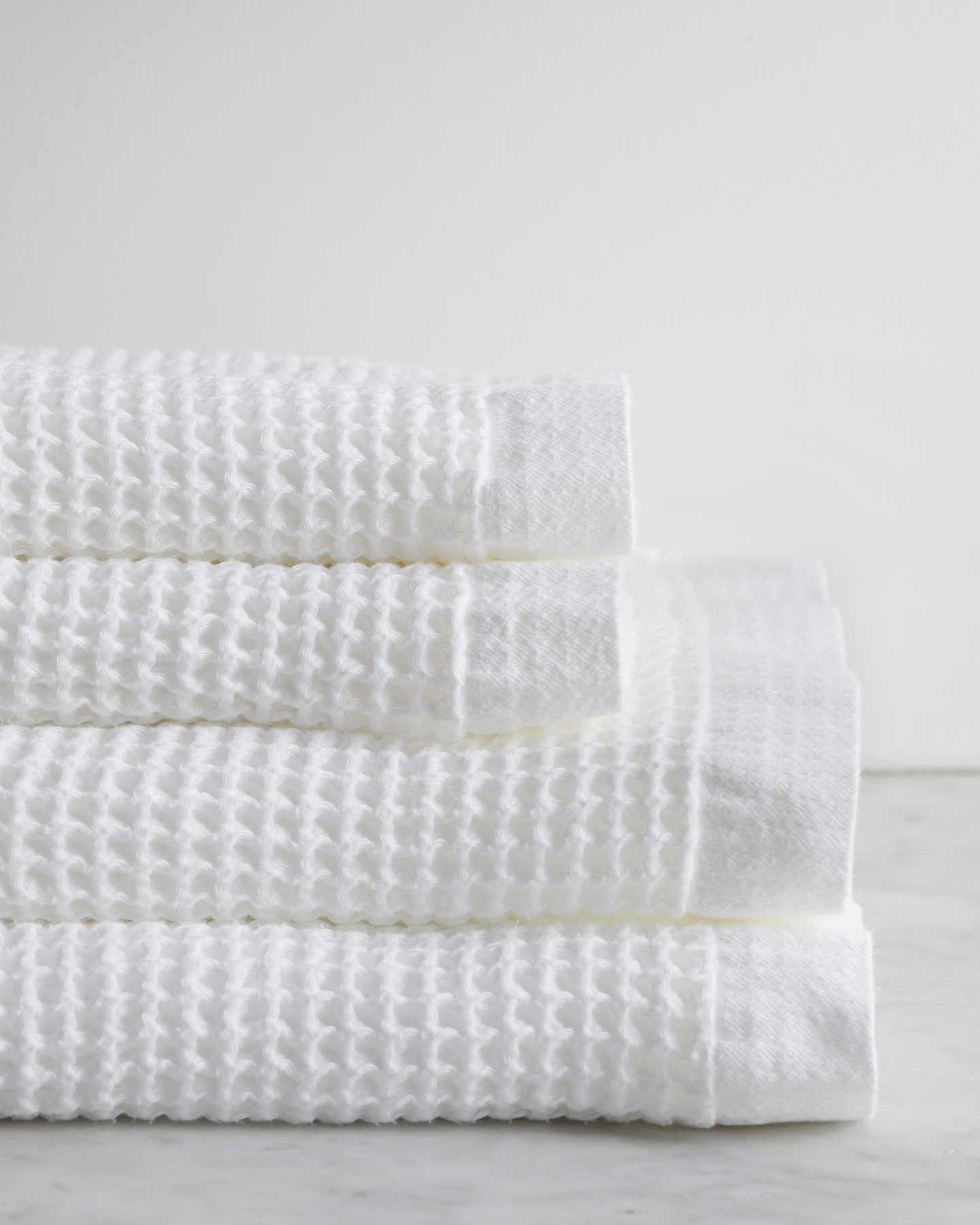 Organic Turkish Waffle Towel Bundle - White