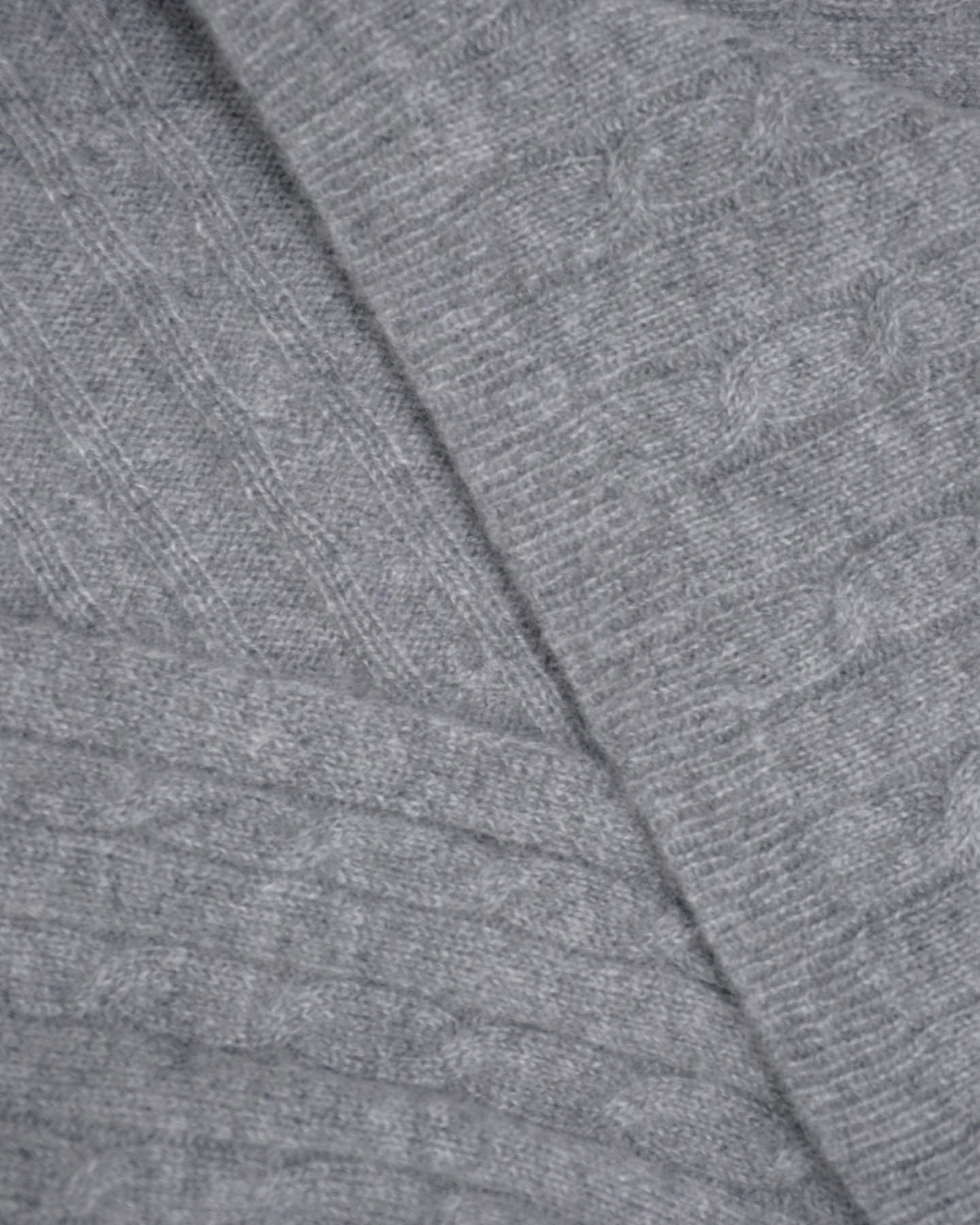 grey cashmere baby blanket up close