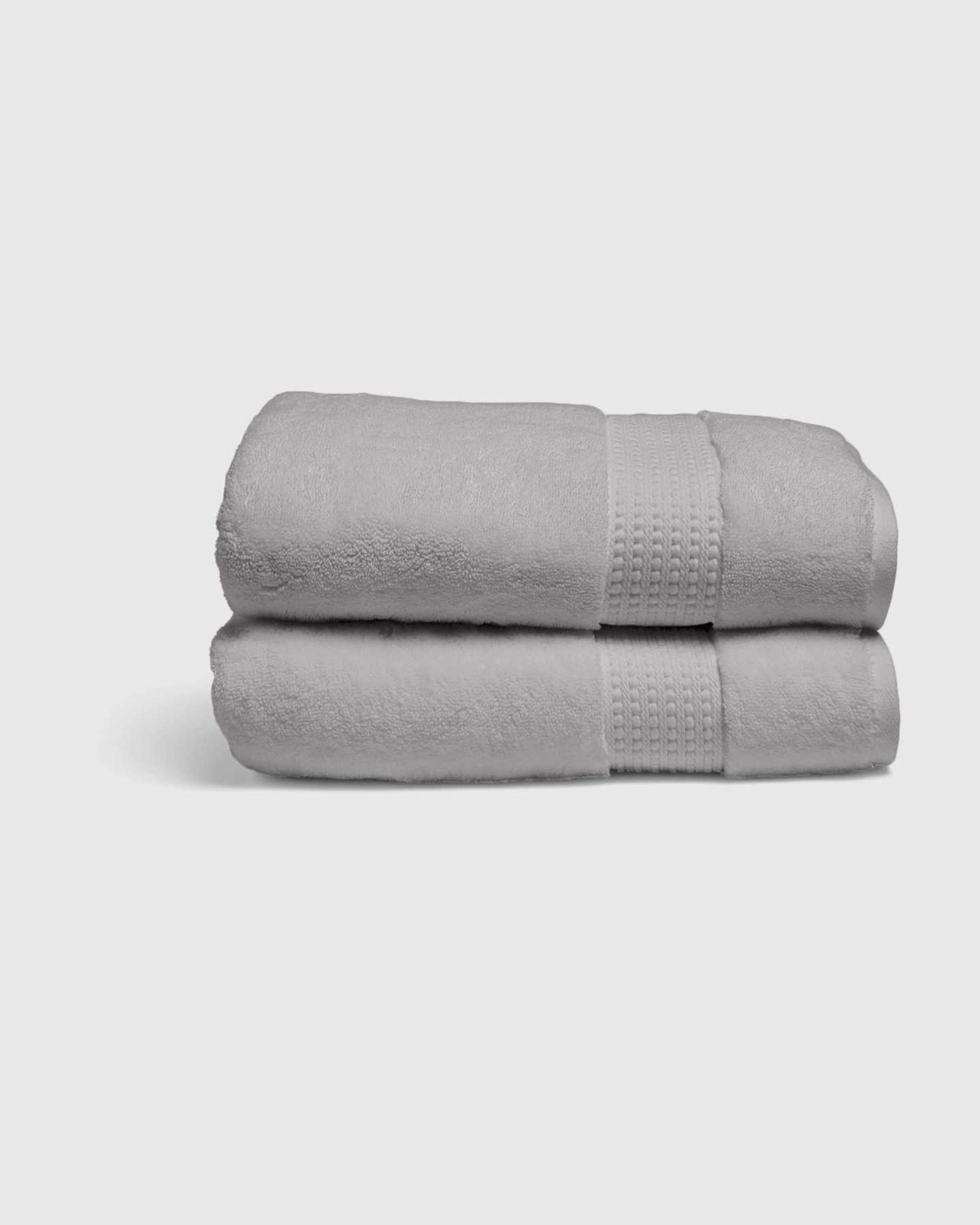 Turkish Quick-Dry Bath Sheets (Set of 2) - Grey - 1