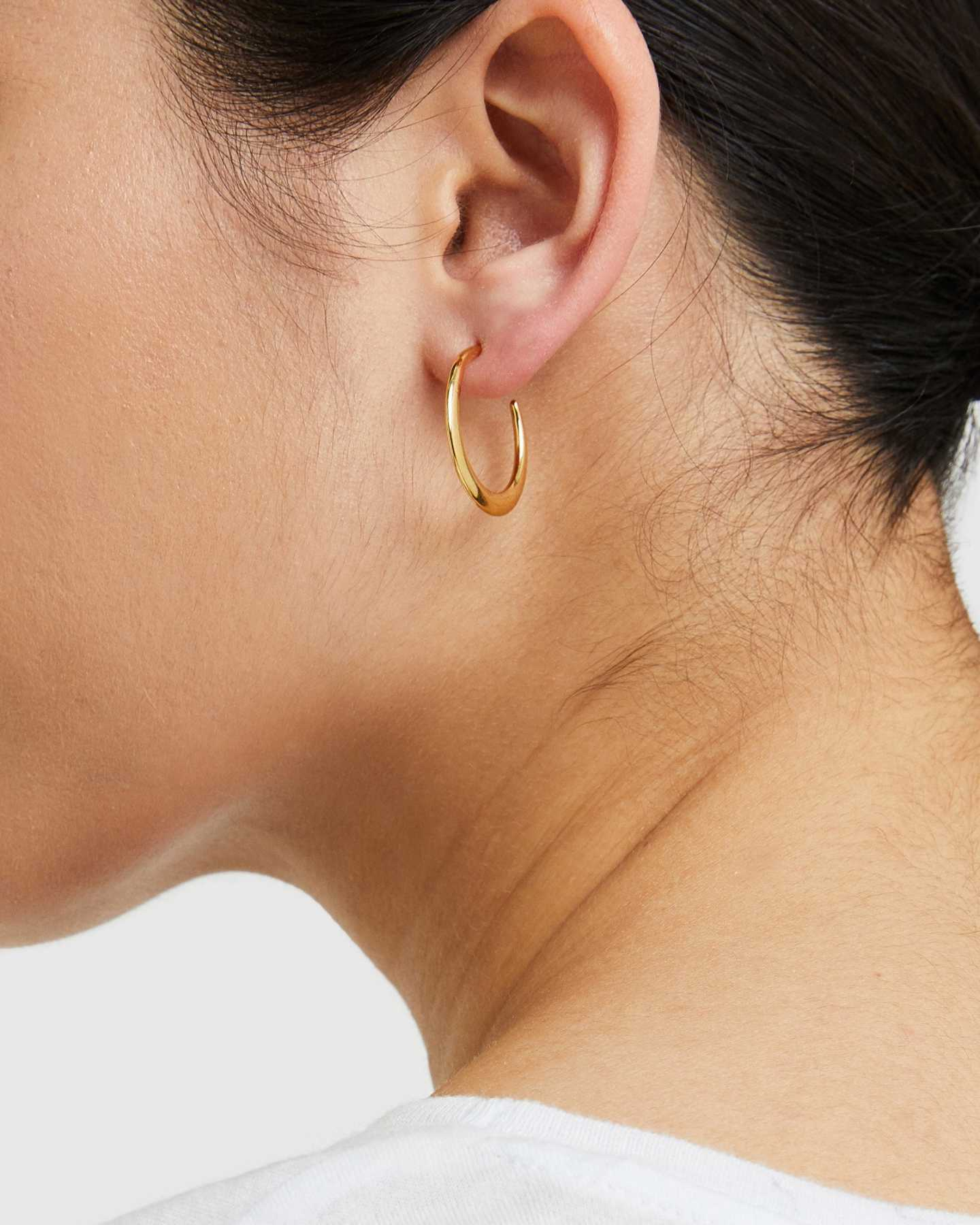 Dress Up Hoops - Gold Vermeil - 2