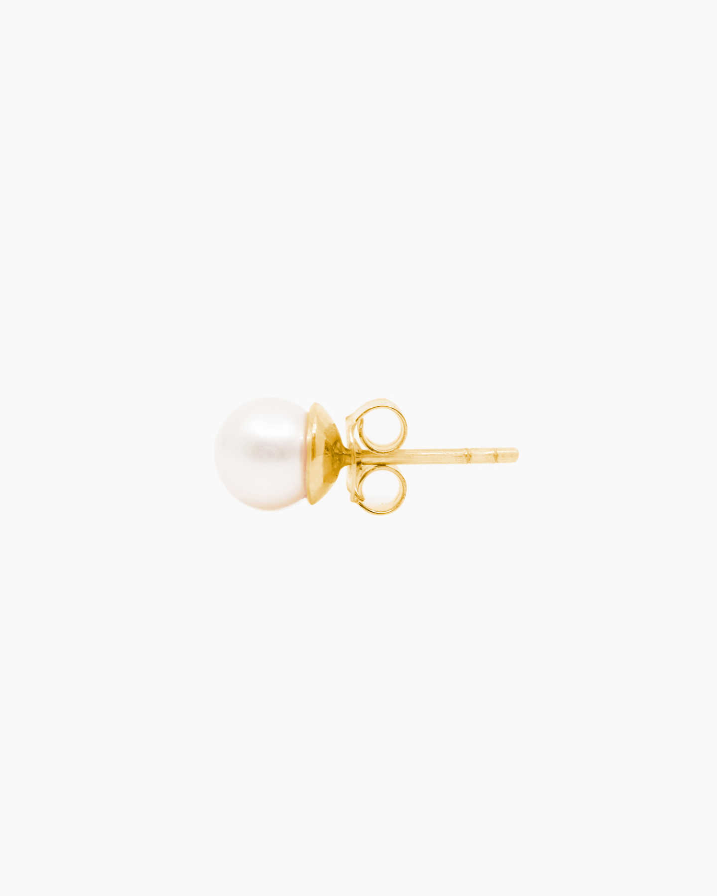 Freshwater Cultured Pearl Stud Earrings - Yellow Gold - 1