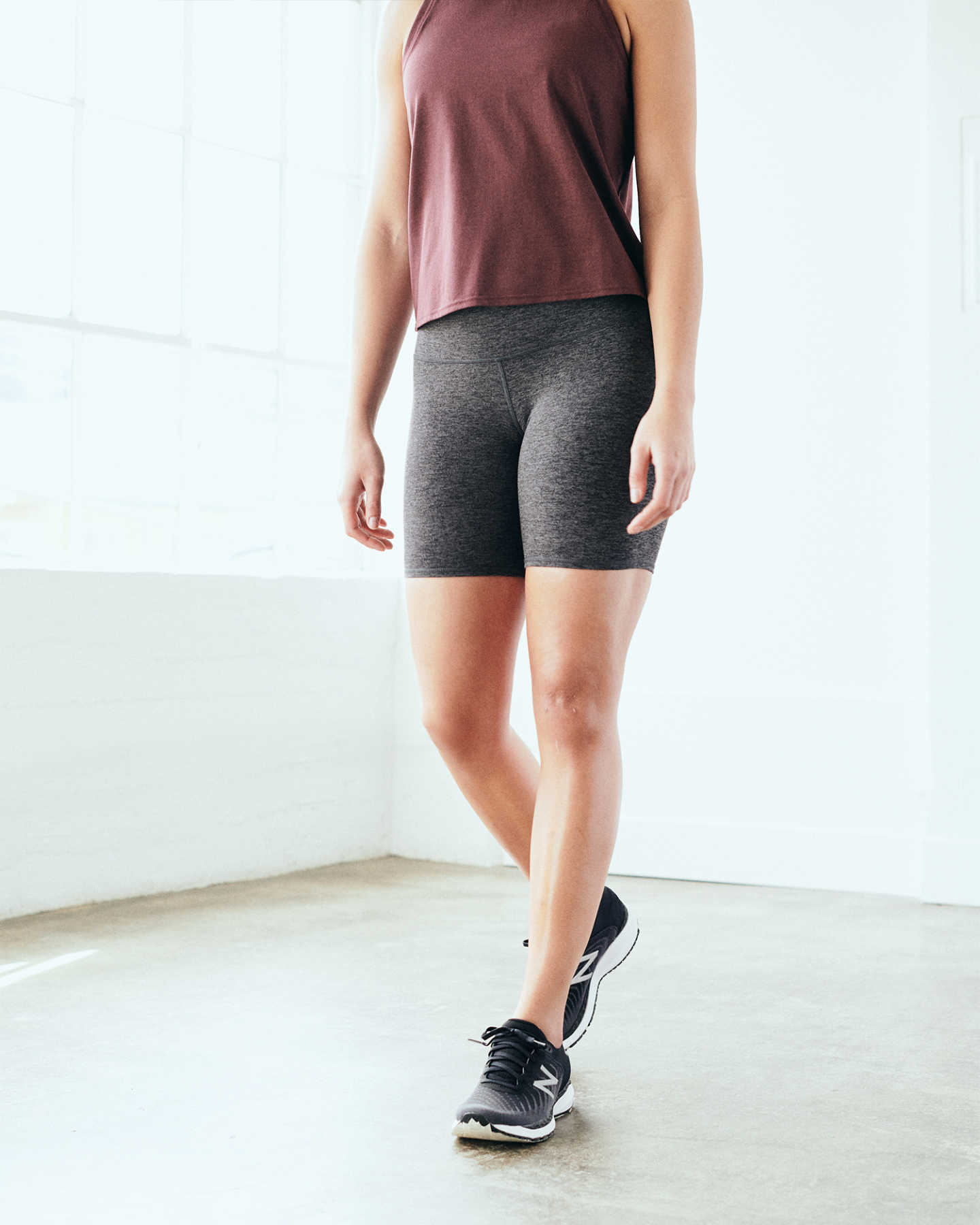 Pair With - Flowknit Ultra-Soft Performance Biker Short - Charcoal