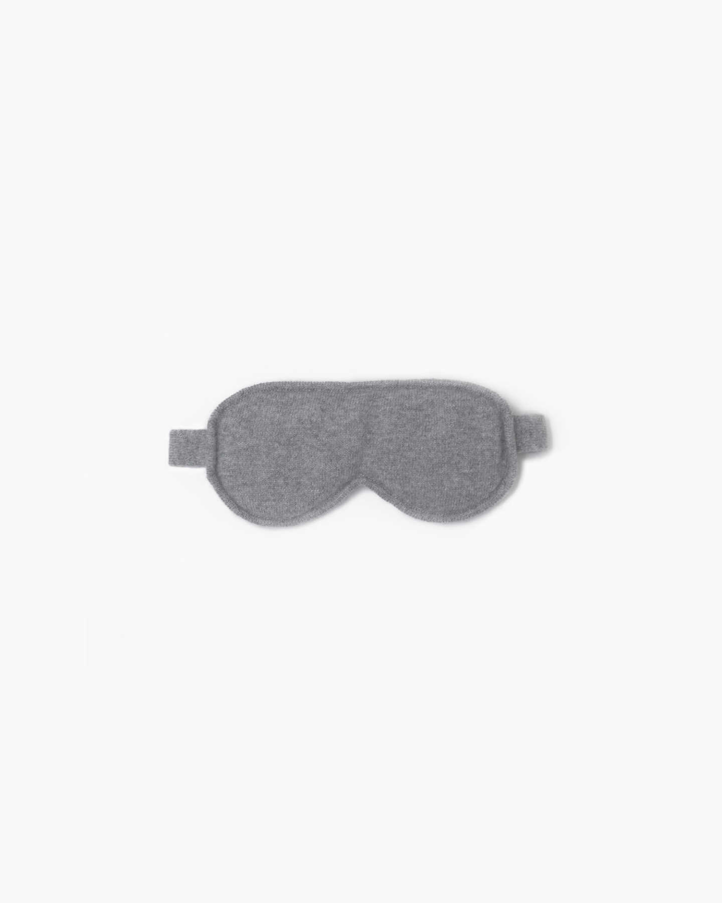 Mongolian Cashmere Sleep Mask - Heather Grey - 0 - Thumbnail