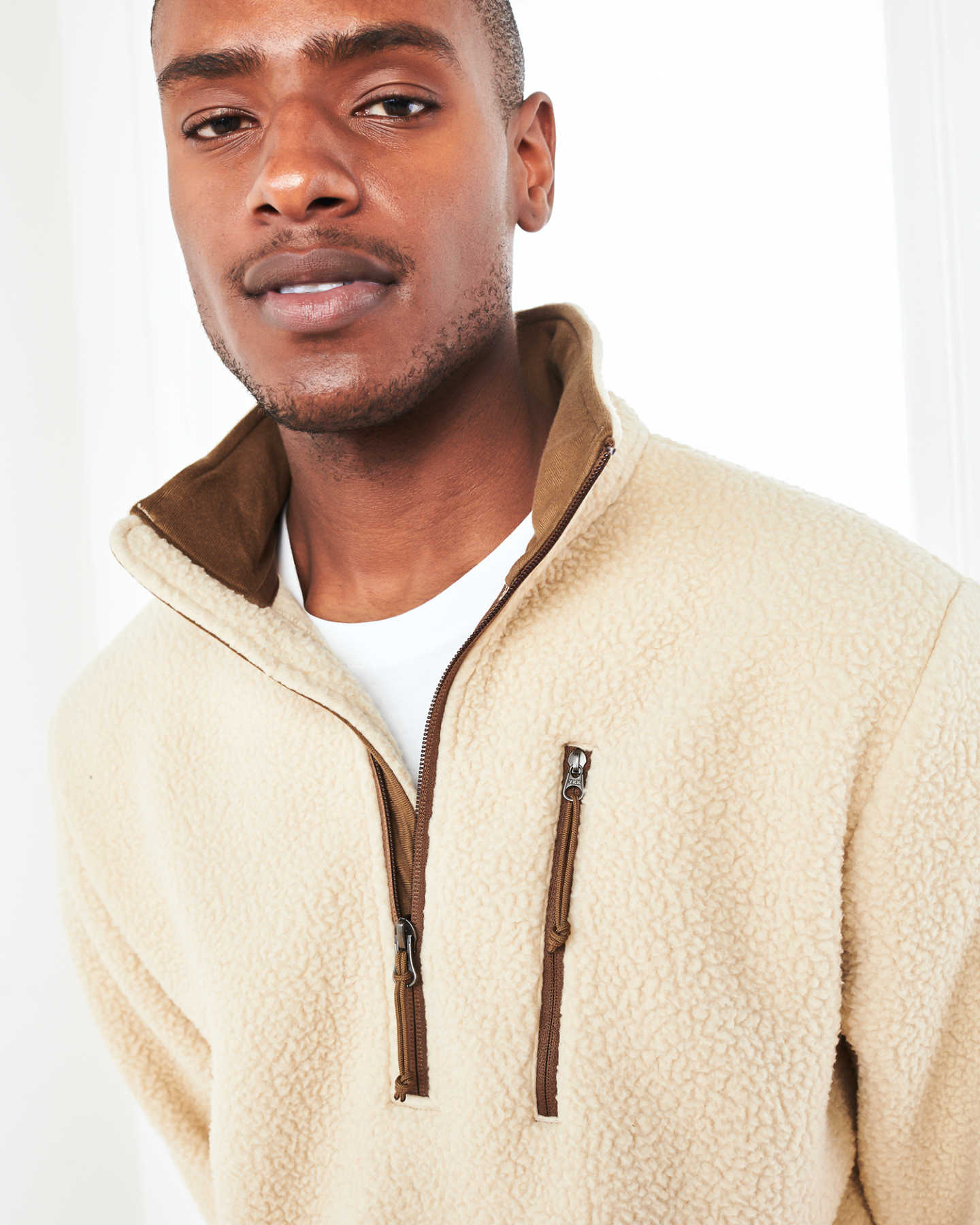Recycled Sherpa Fleece Pullover Jacket - undefined - 3