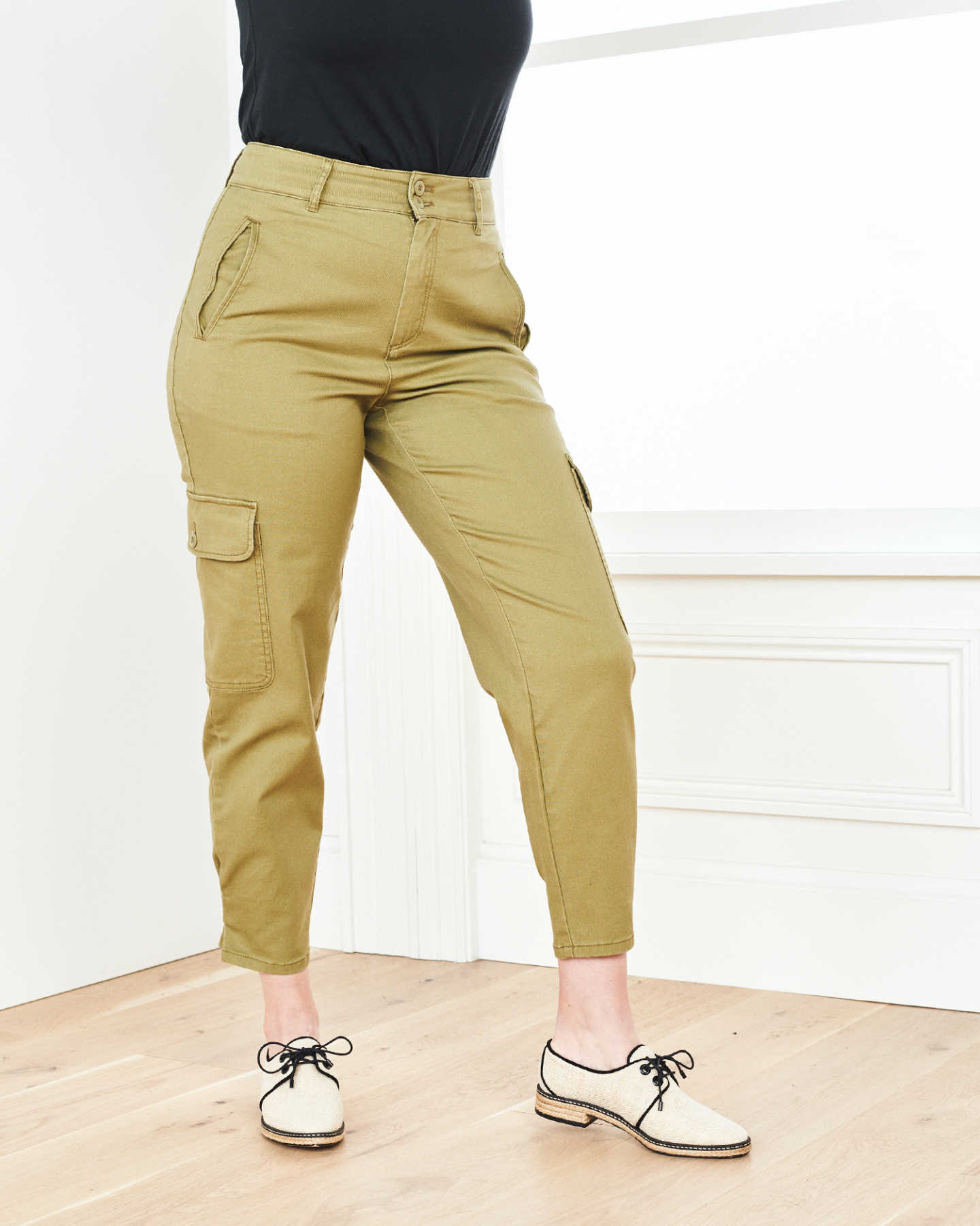 Stretch Cotton Twill Cargo Pant - Olive - 5