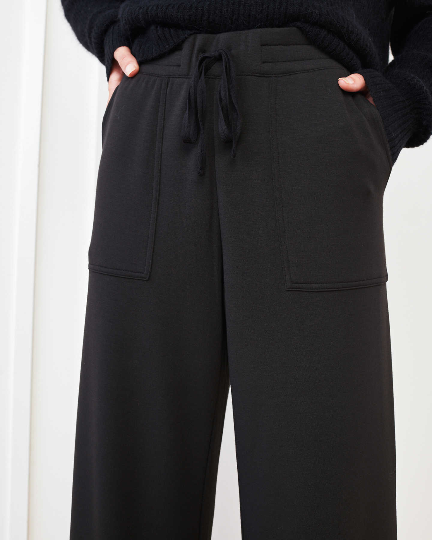 SuperSoft Fleece Wide Leg Pants - Black - 6