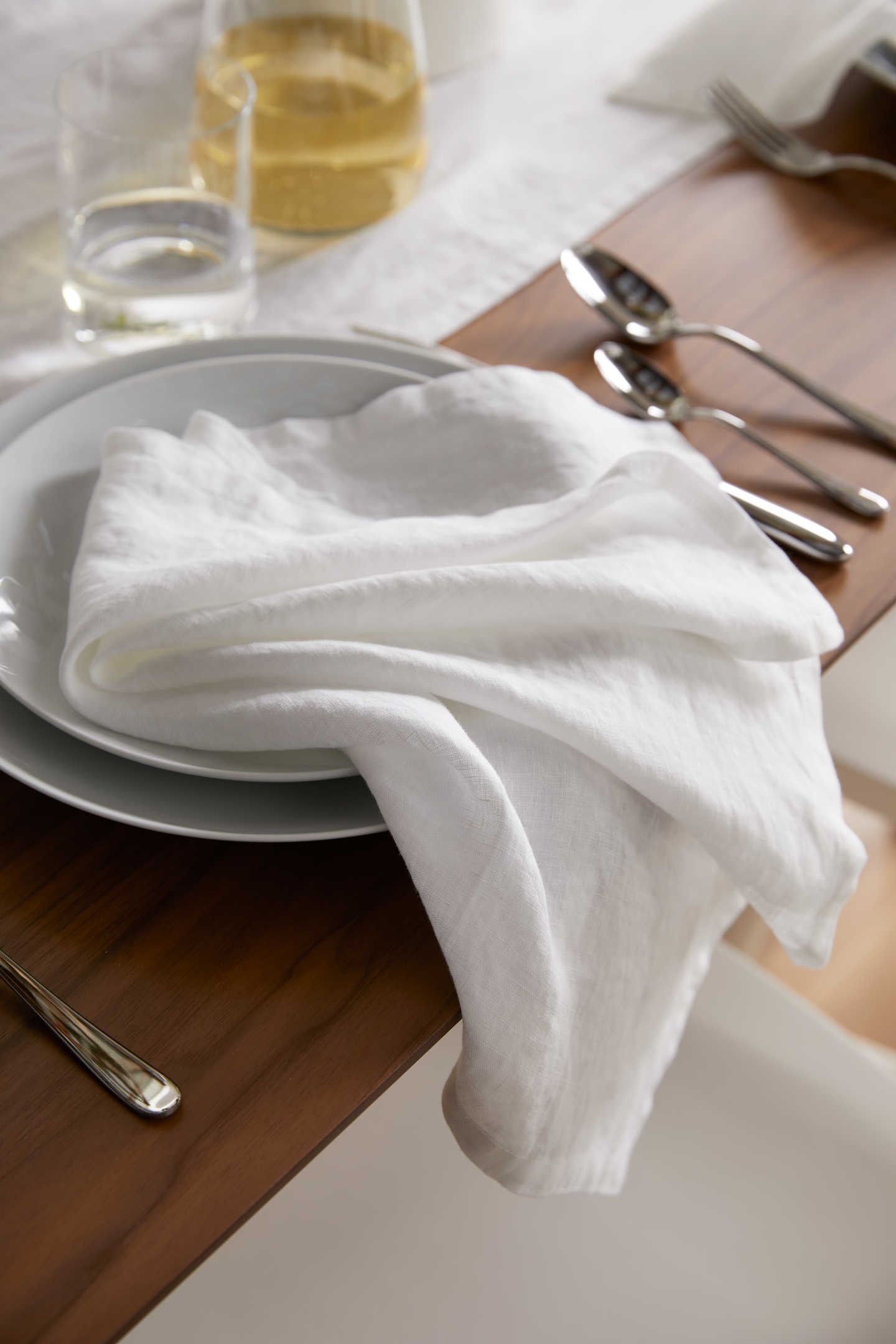 Pair With - Belgian Linen Napkins - White