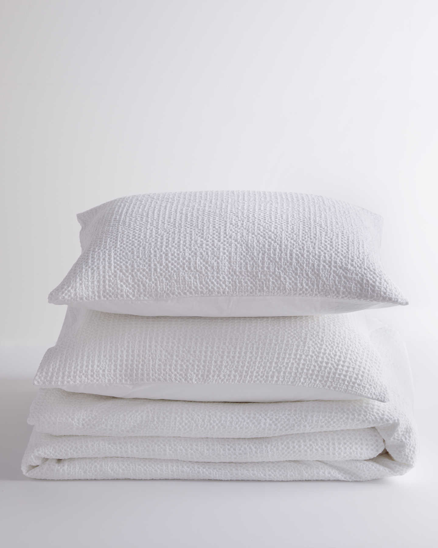 Pair With - Organic Luxe Waffle Duvet Cover Set - White