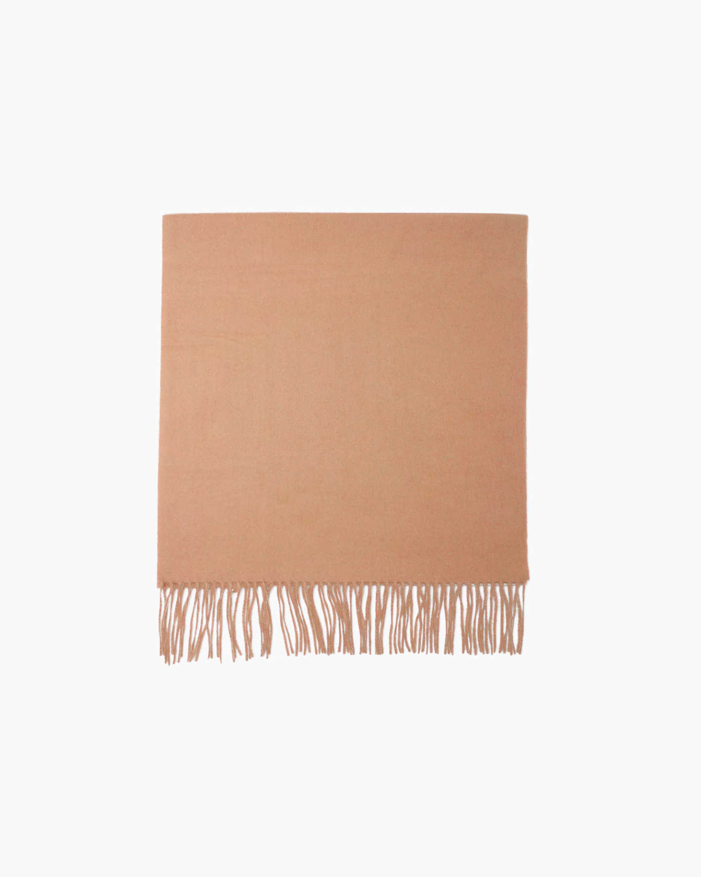 Cashmere throw blanket in camel