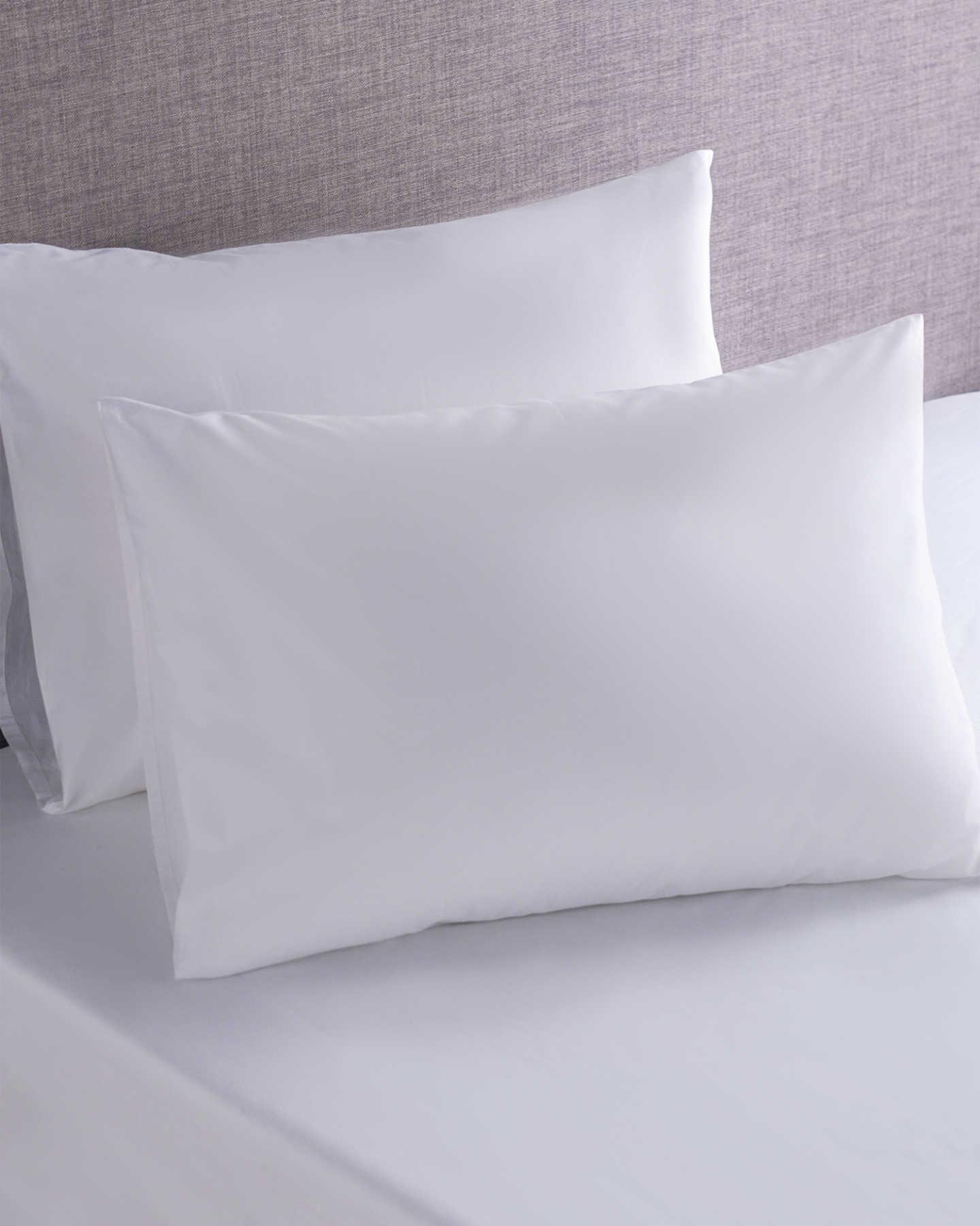 Organic Percale Luxe Fitted Sheet Set - White