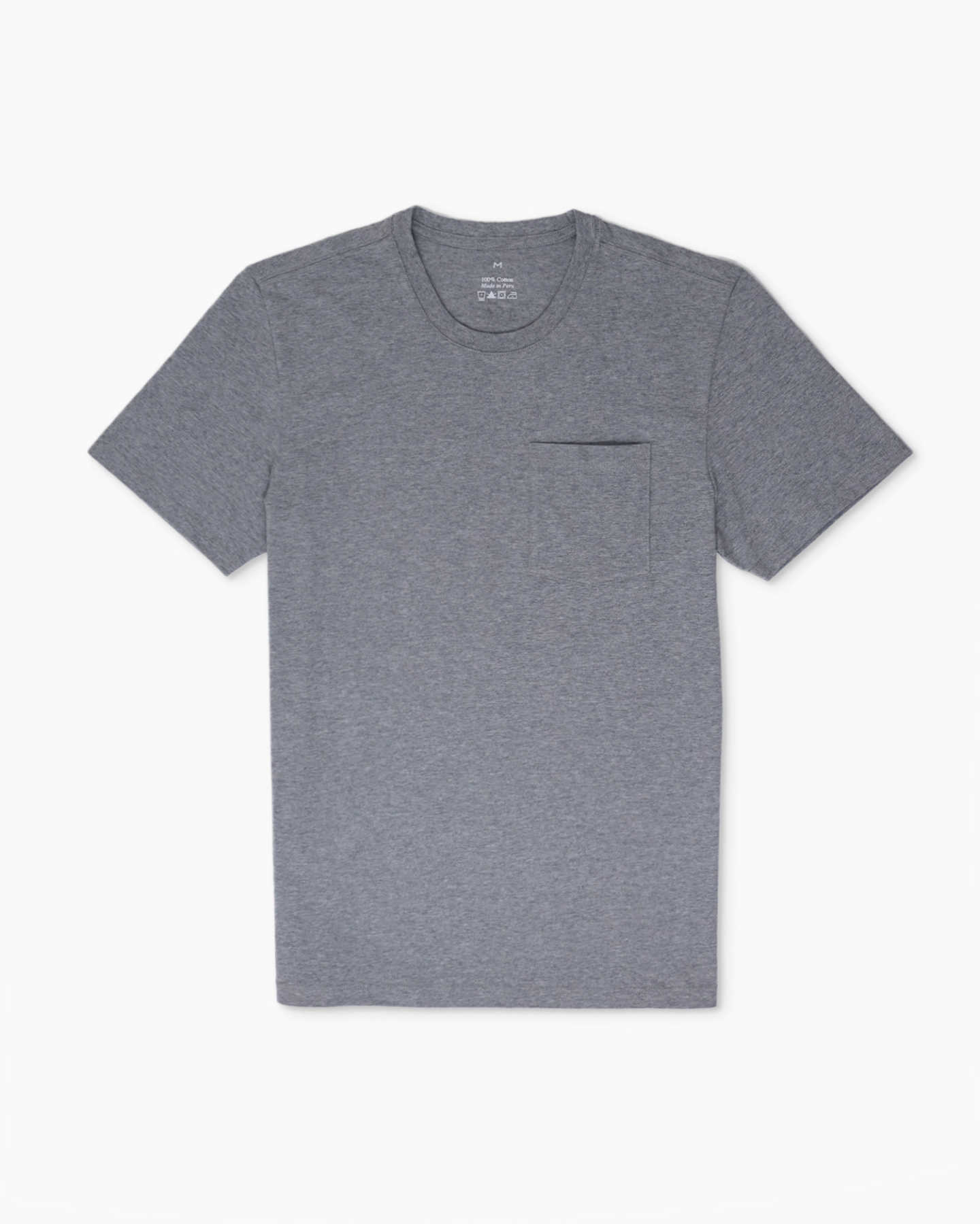 Vintage Wash Pocket Tee - Heather Grey