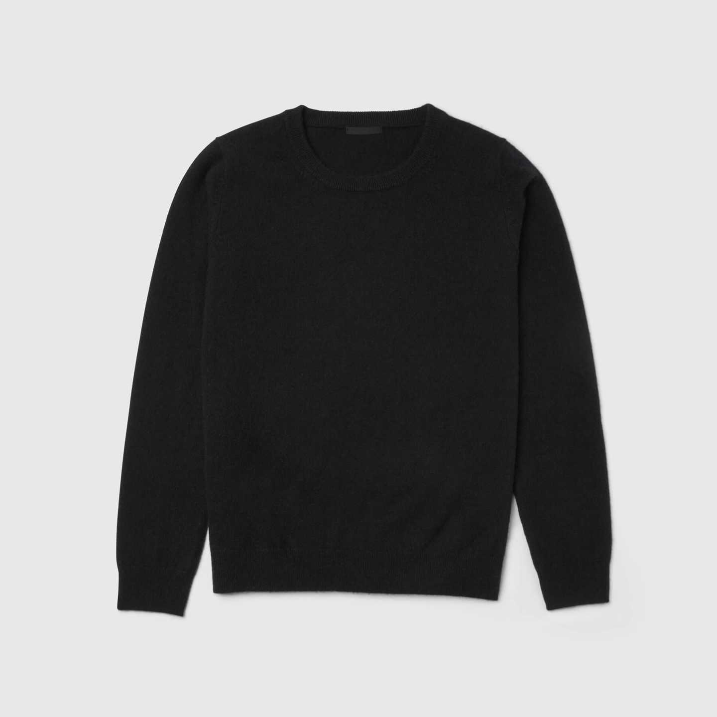 black cashmere sweater for women