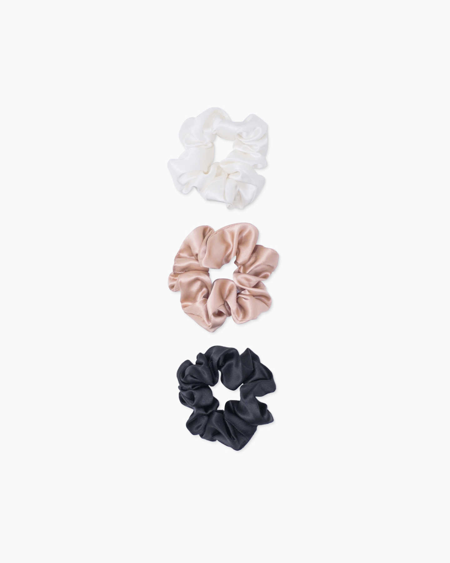 100% silk scrunchies pack
