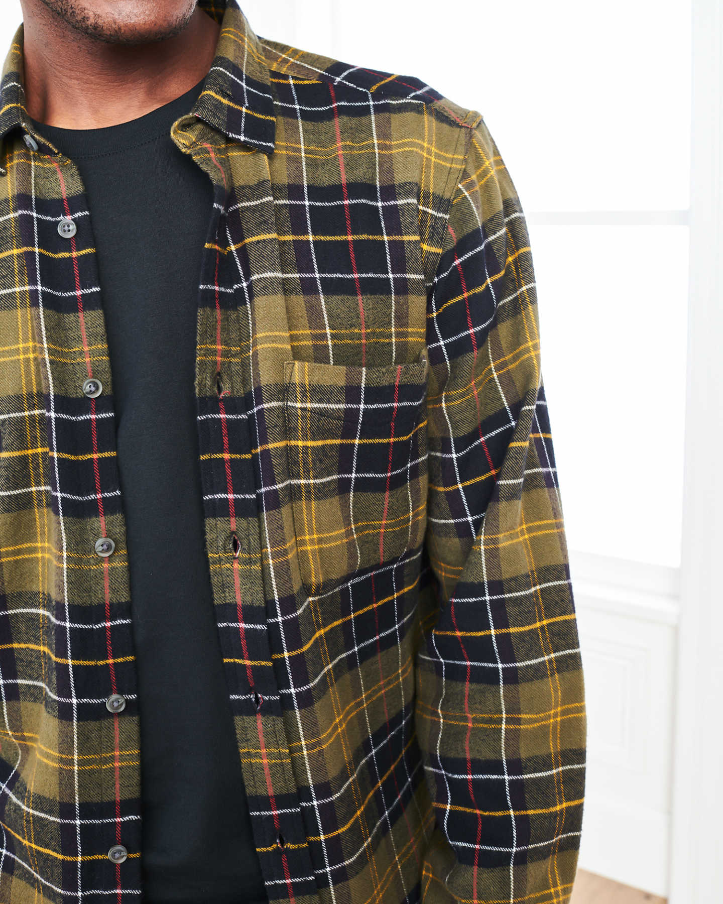 Soft Brushed Plaid Flannel Shirt - undefined - 5