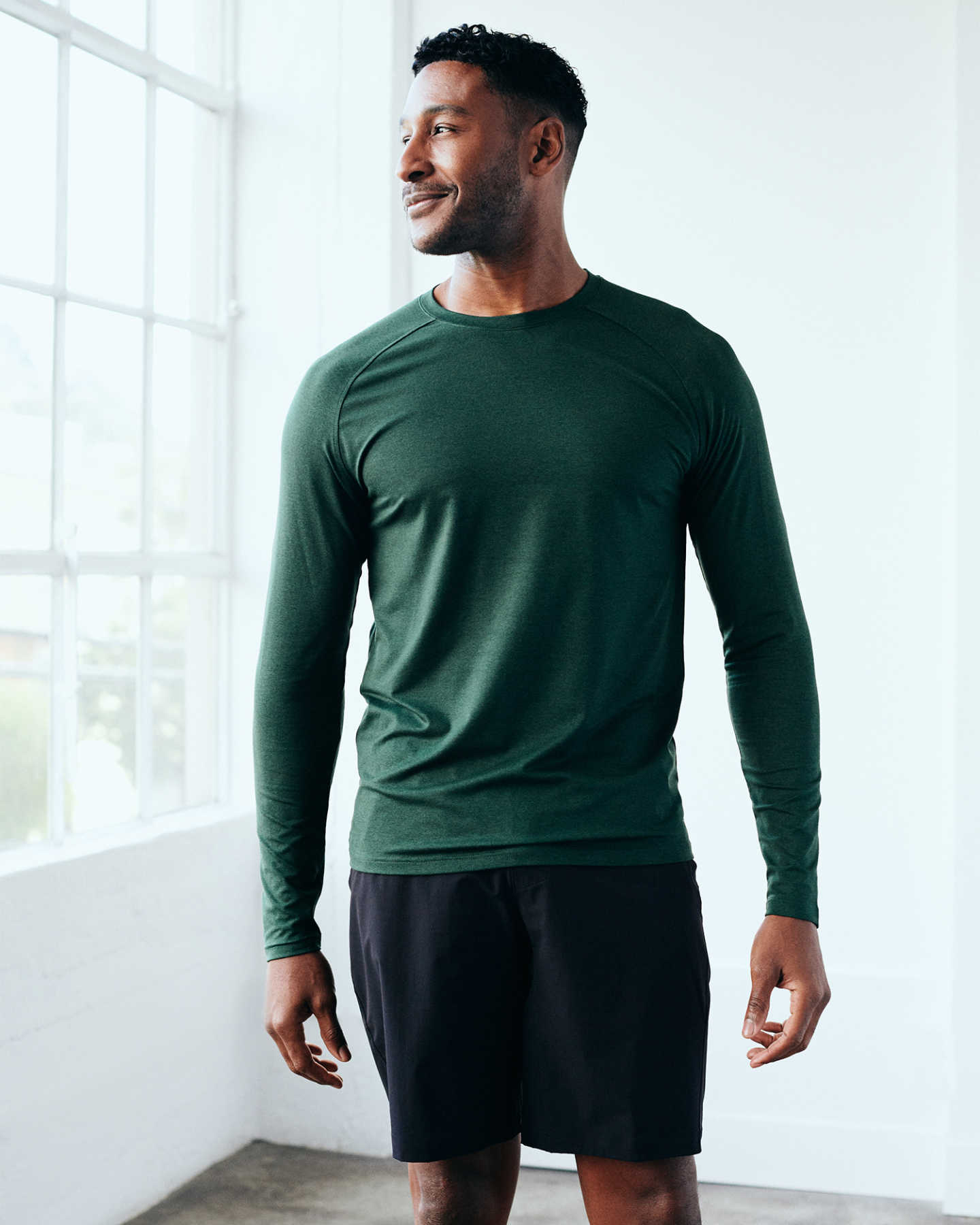 Flowknit Ultra-Soft Performance Long Sleeve Tee - Olive - 11