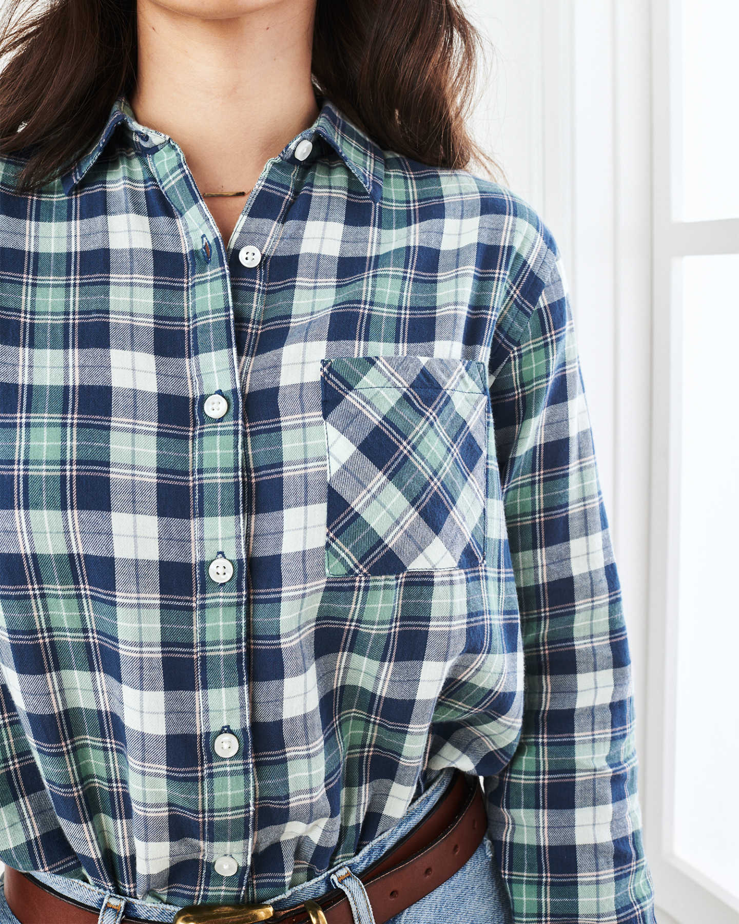 Brushed Twill Plaid Shirt - undefined - 3
