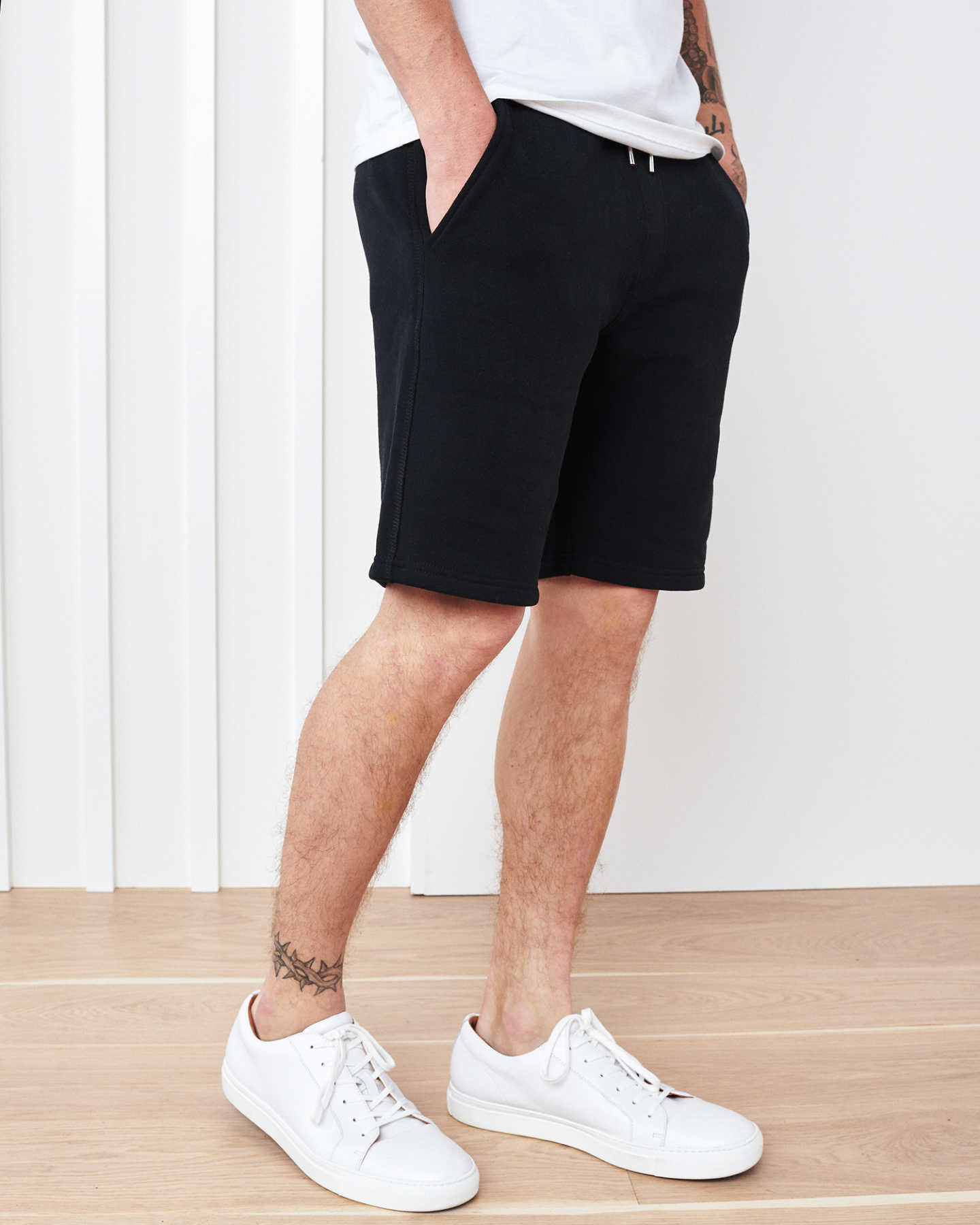 Heavyweight Organic Fleece Sweatshort - Black