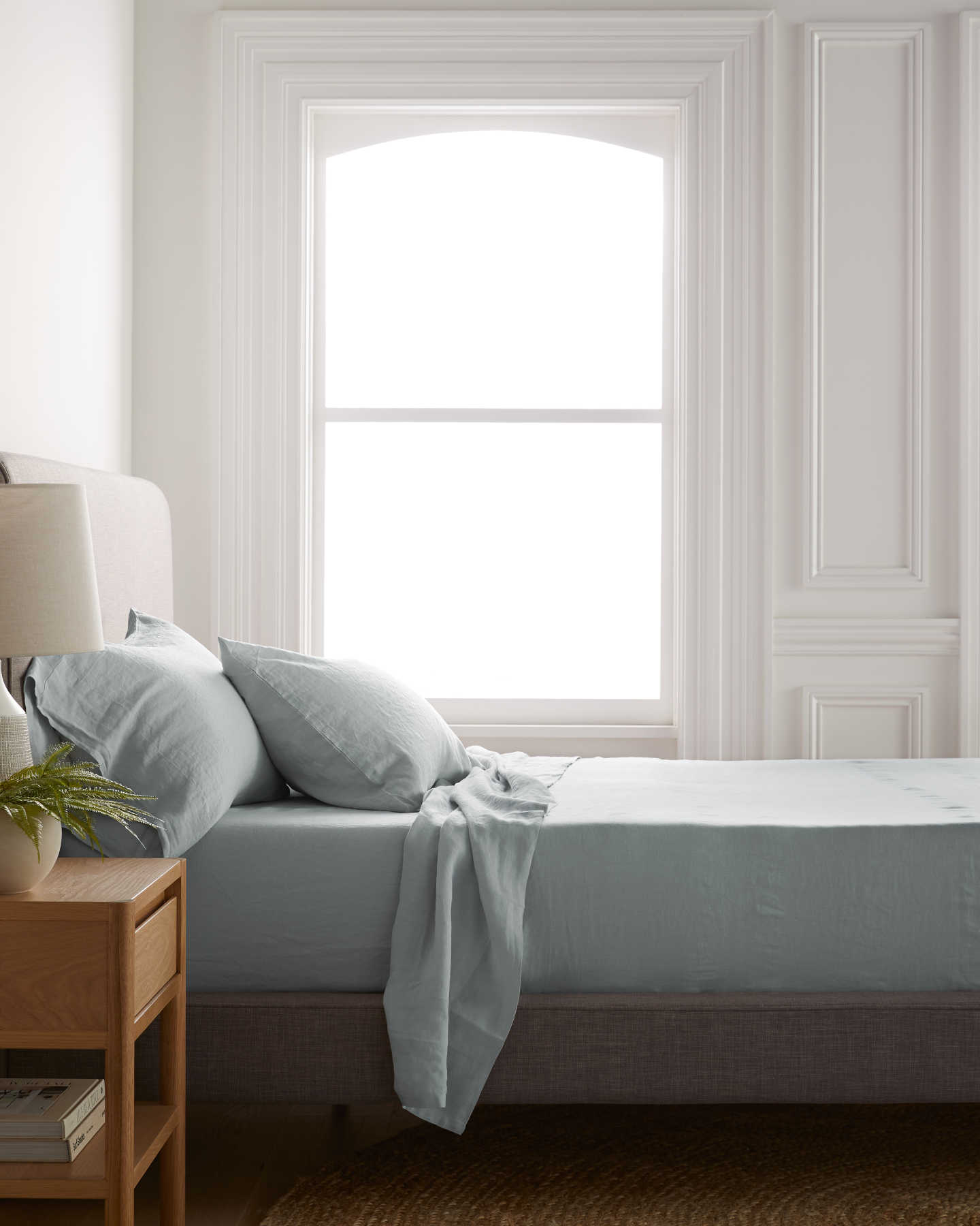 Belgian Linen Sheet Set - Mist - 1