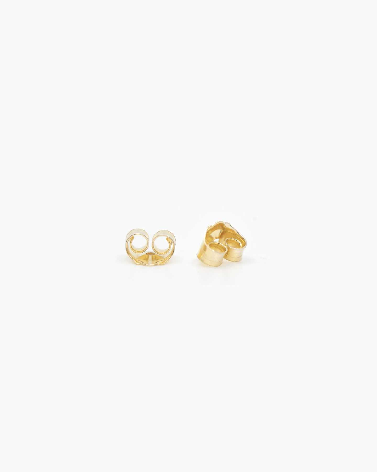 14k Gold Line Studs - Yellow Gold - 3