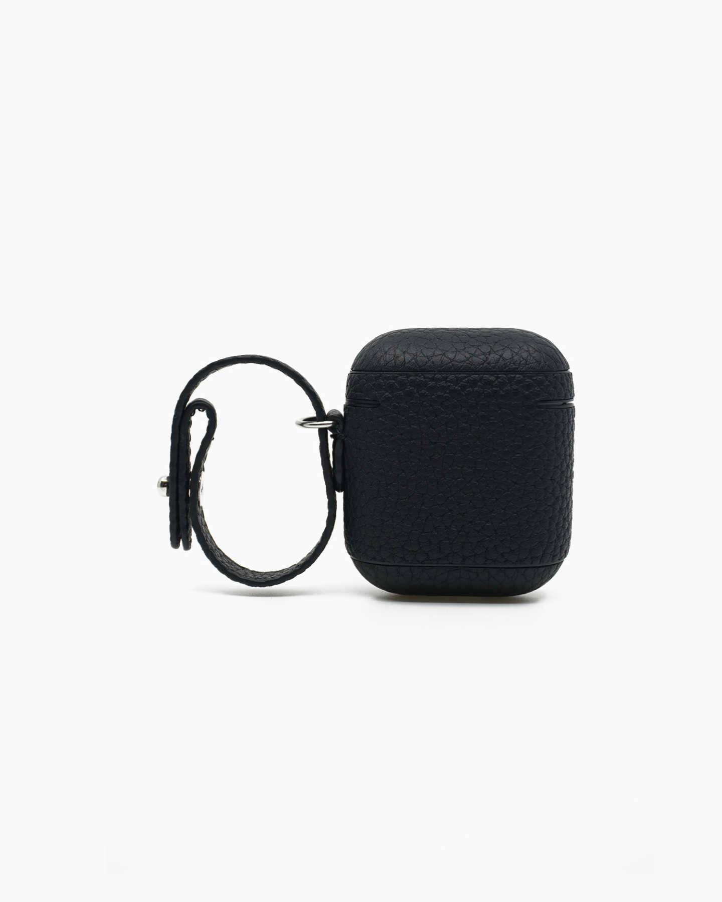 Premium Pebbled Leather AirPod Case - Black - 4