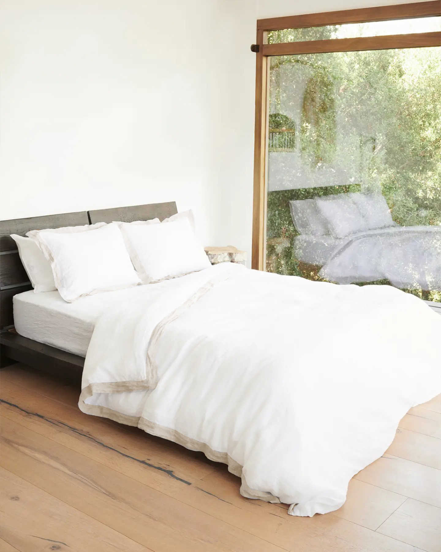 You May Also Like - Belgian Linen Bordered Duvet Deluxe Bundle - Flax