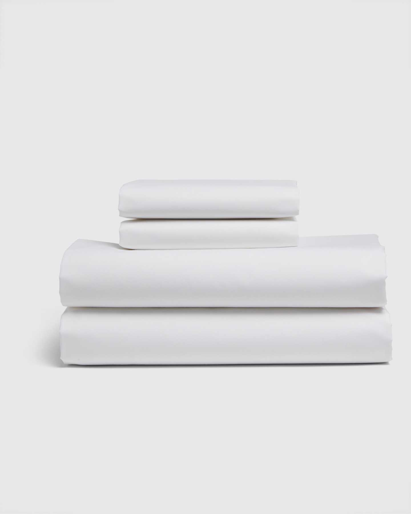 Organic Percale Luxe Sheet Set - White