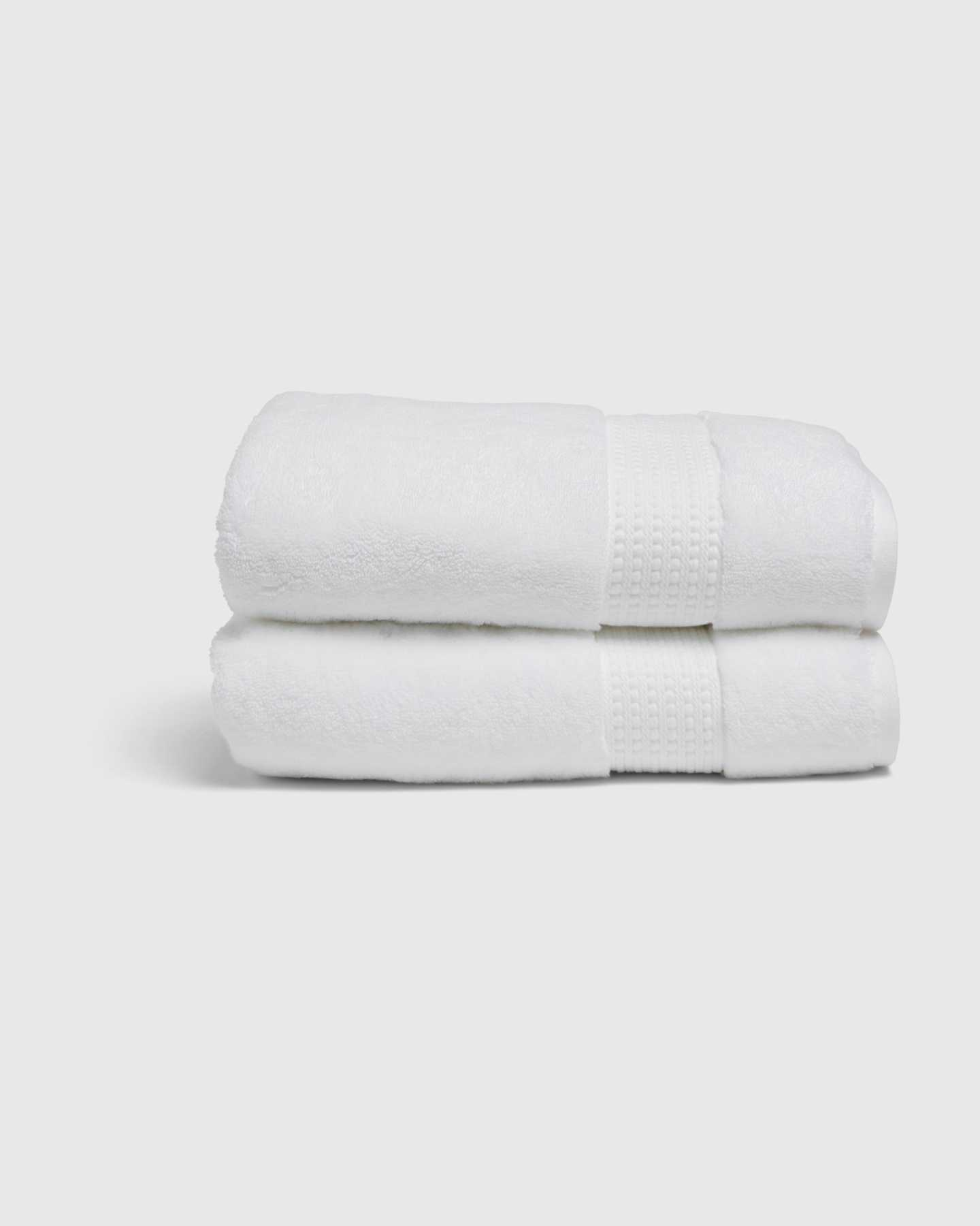 Turkish Quick-Dry Bath Towels (Set of 2) - White - 0