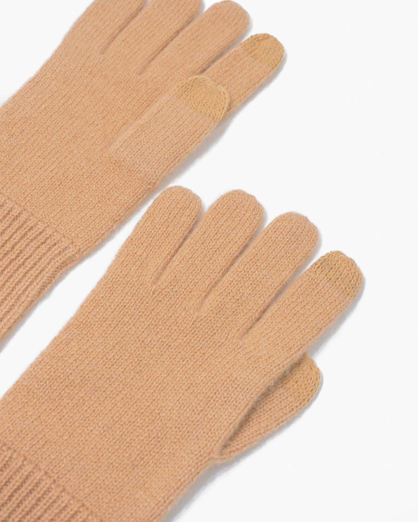 Mongolian Cashmere Gloves - Camel - 2