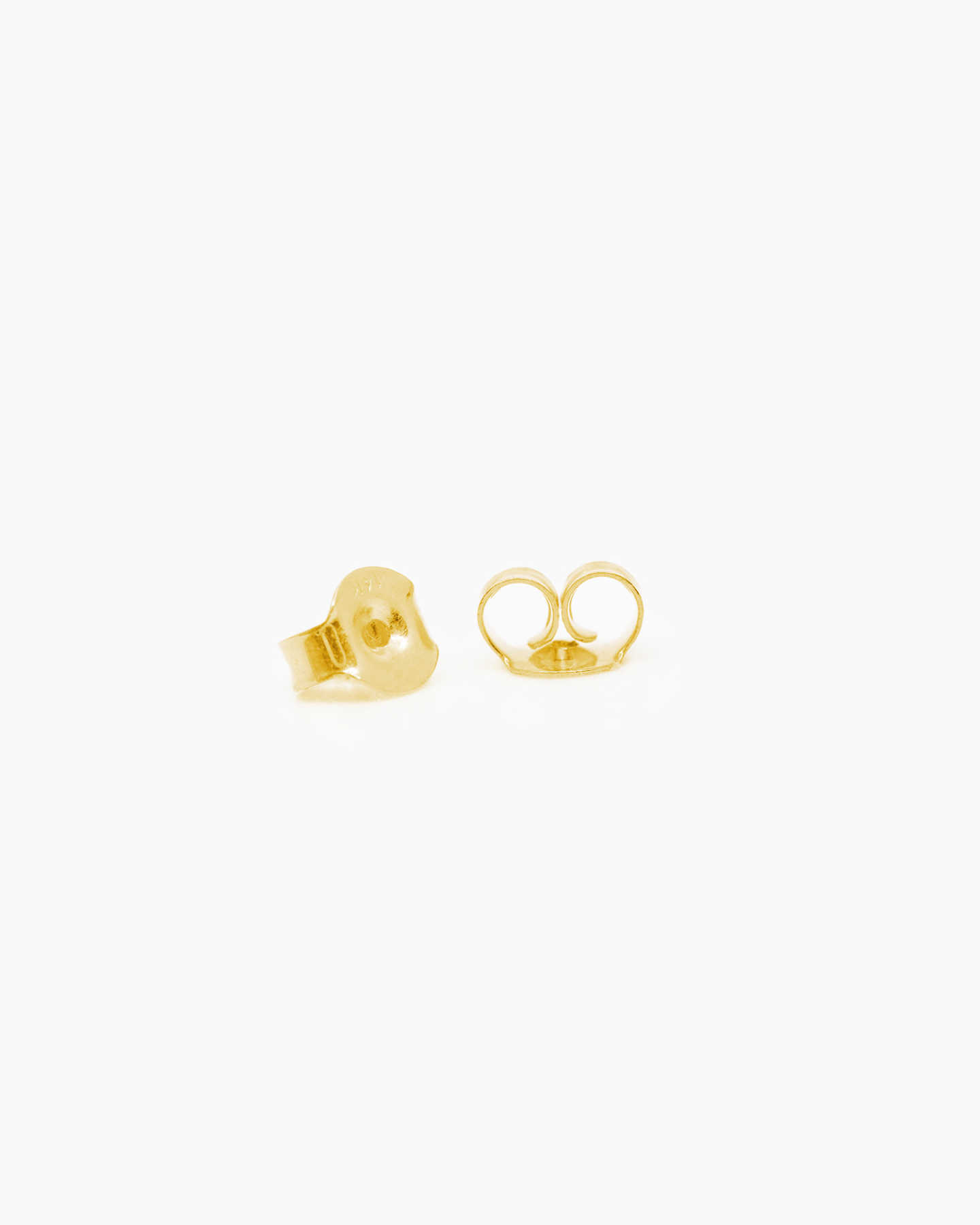 Bold Gold Stud Earrings - Yellow Gold - 2