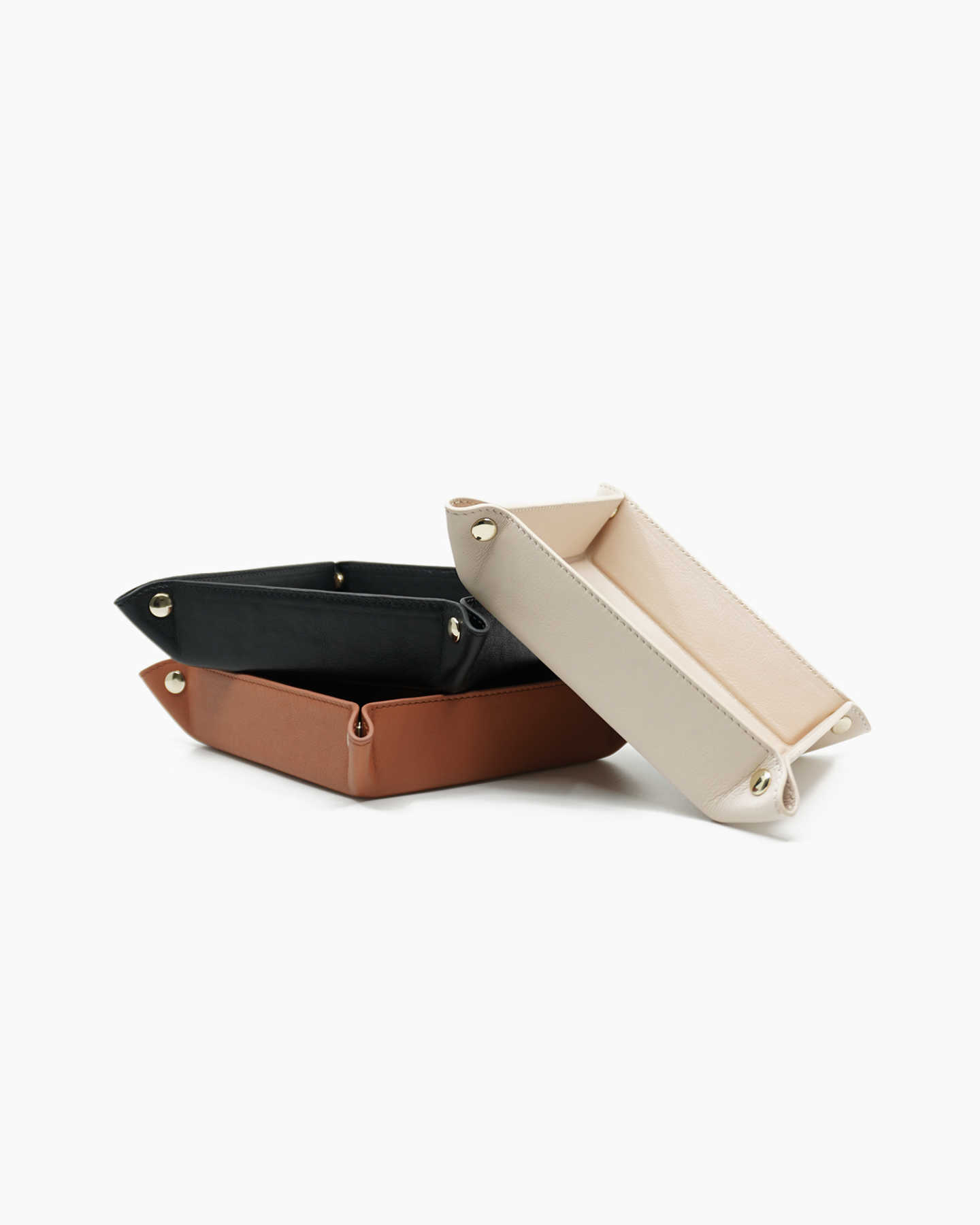 Luxe Full-Grain Leather Valet Tray - Soft Blush - 3