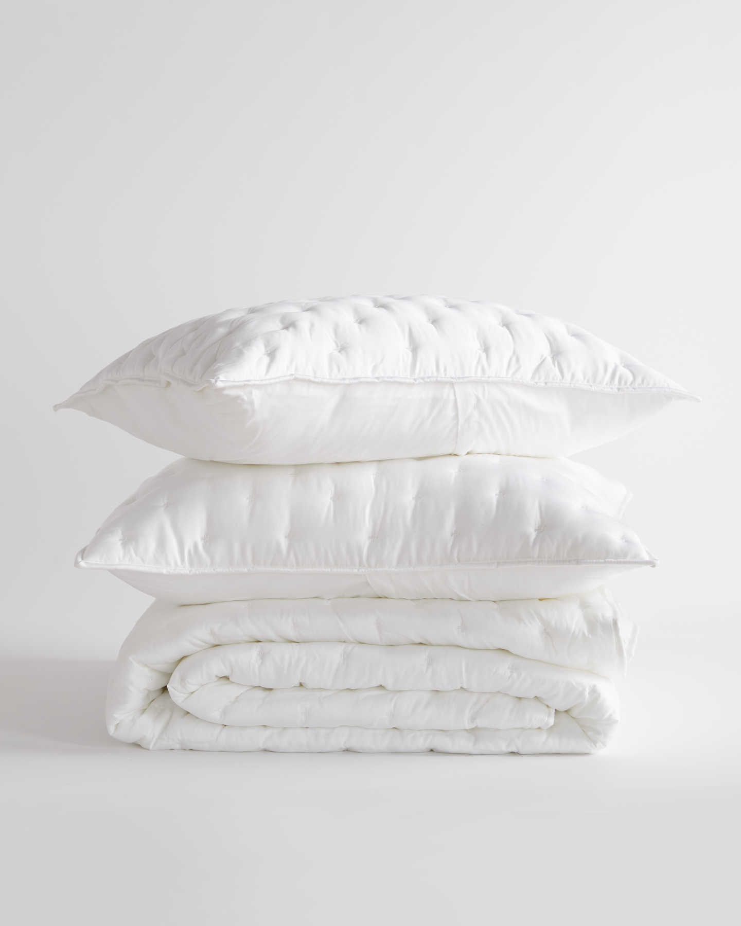 Pair With - Organic Bamboo Lyocell Quilt Set - White