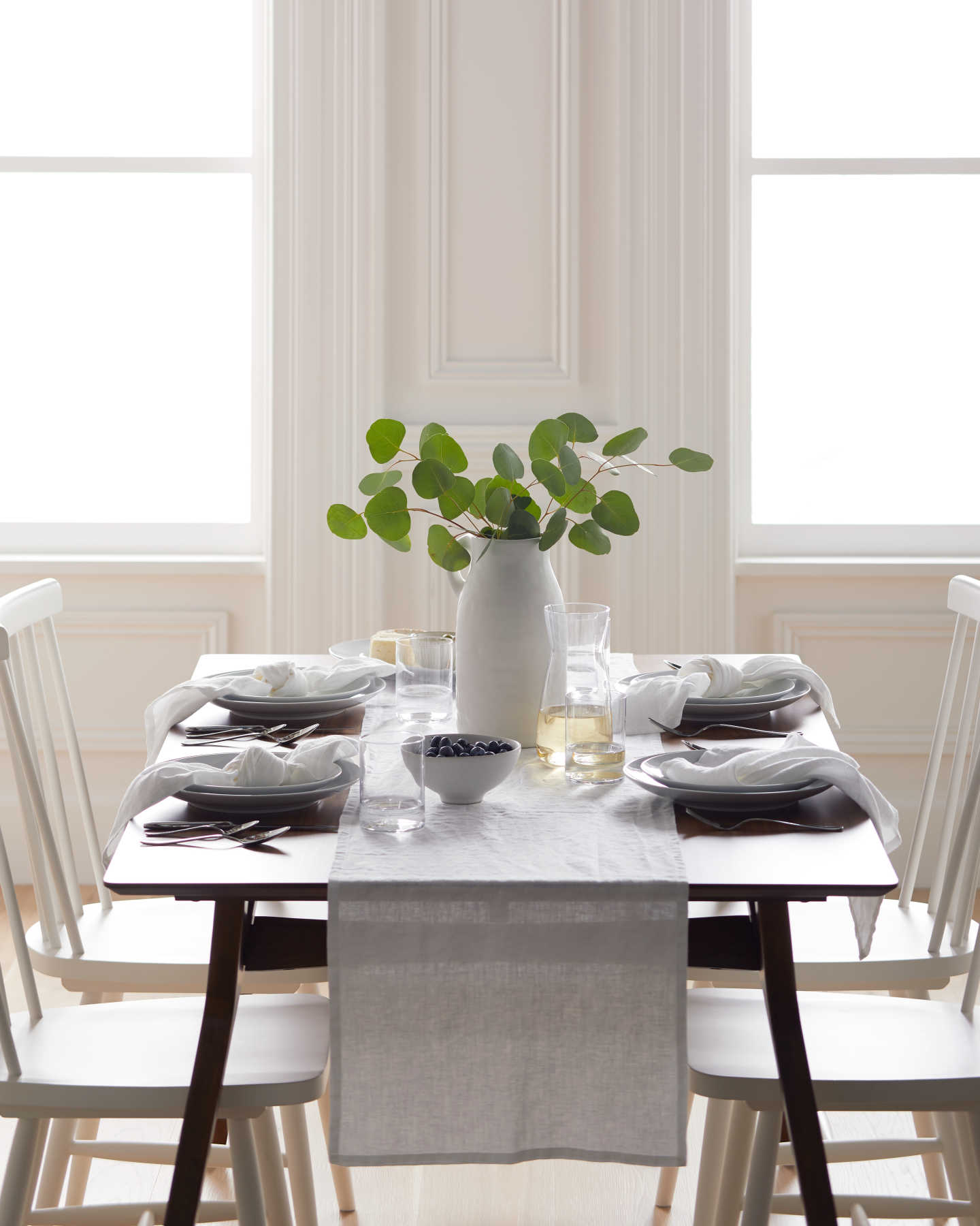 You May Also Like - Belgian Linen Table Runner - White